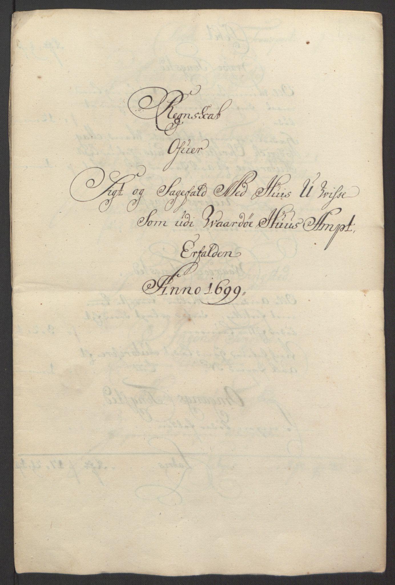 RA, Rentekammeret inntil 1814, Reviderte regnskaper, Fogderegnskap, R69/L4851: Fogderegnskap Finnmark/Vardøhus, 1691-1700, s. 412