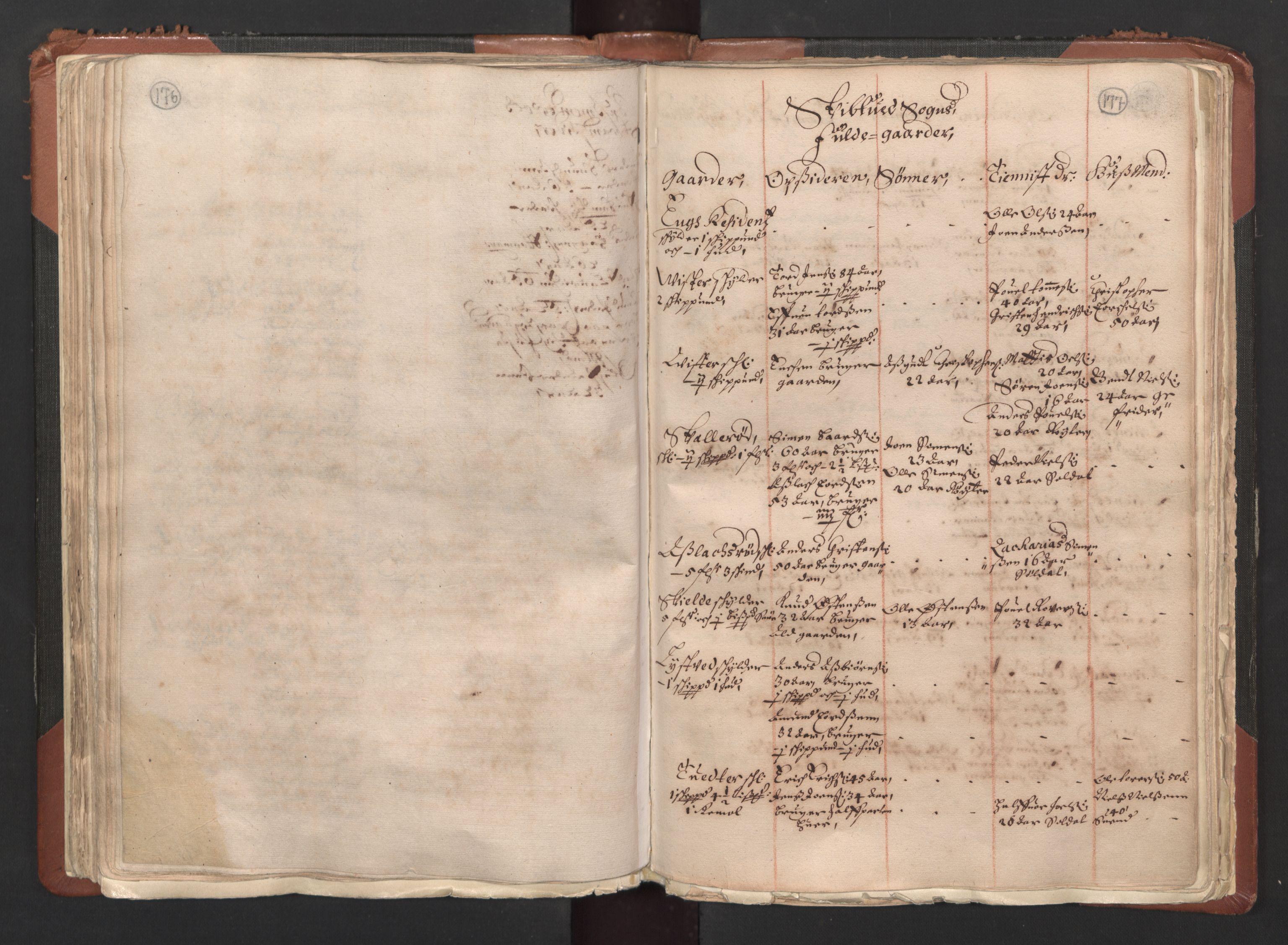 RA, Fogdenes og sorenskrivernes manntall 1664-1666, nr. 1: Fogderier (len og skipreider) i nåværende Østfold fylke, 1664, s. 176-177