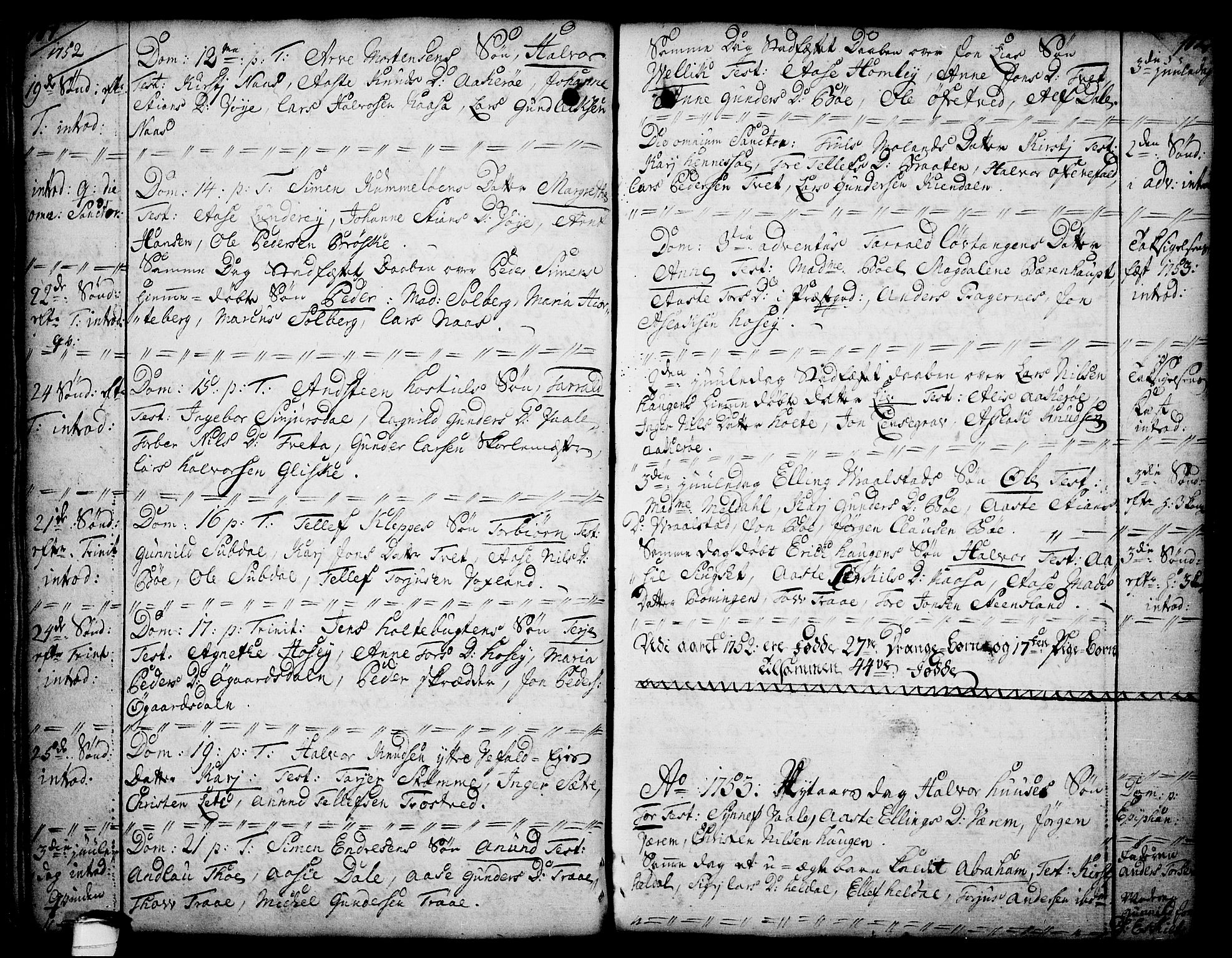 SAKO, Drangedal kirkebøker, F/Fa/L0002: Ministerialbok nr. 2, 1733-1753, s. 101-102