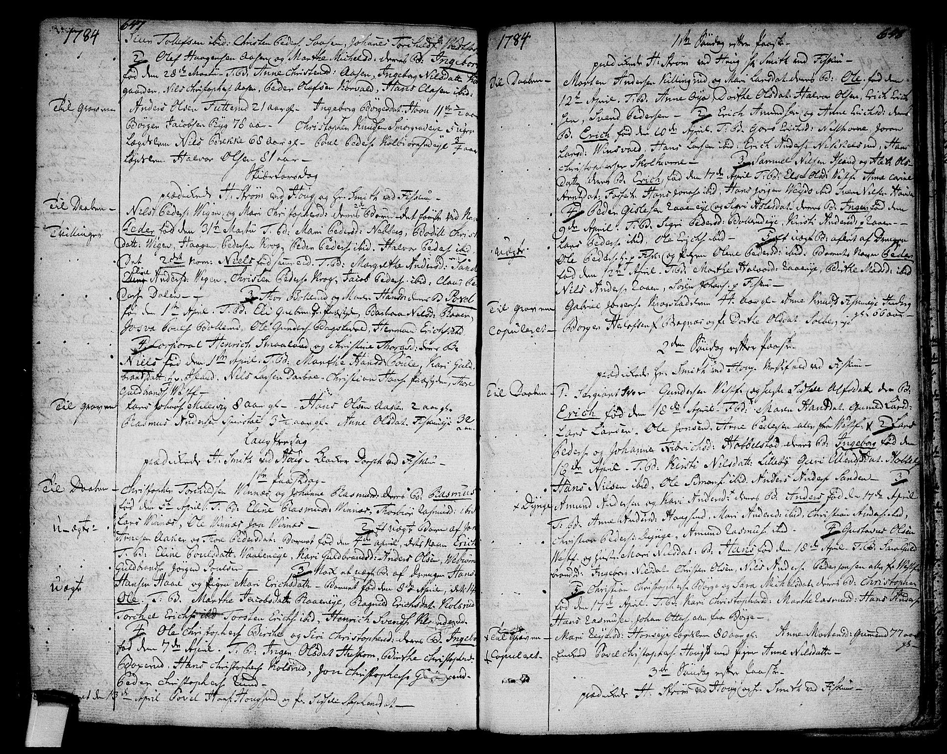 SAKO, Eiker kirkebøker, F/Fa/L0008: Ministerialbok nr. I 8, 1764-1788, s. 647-648
