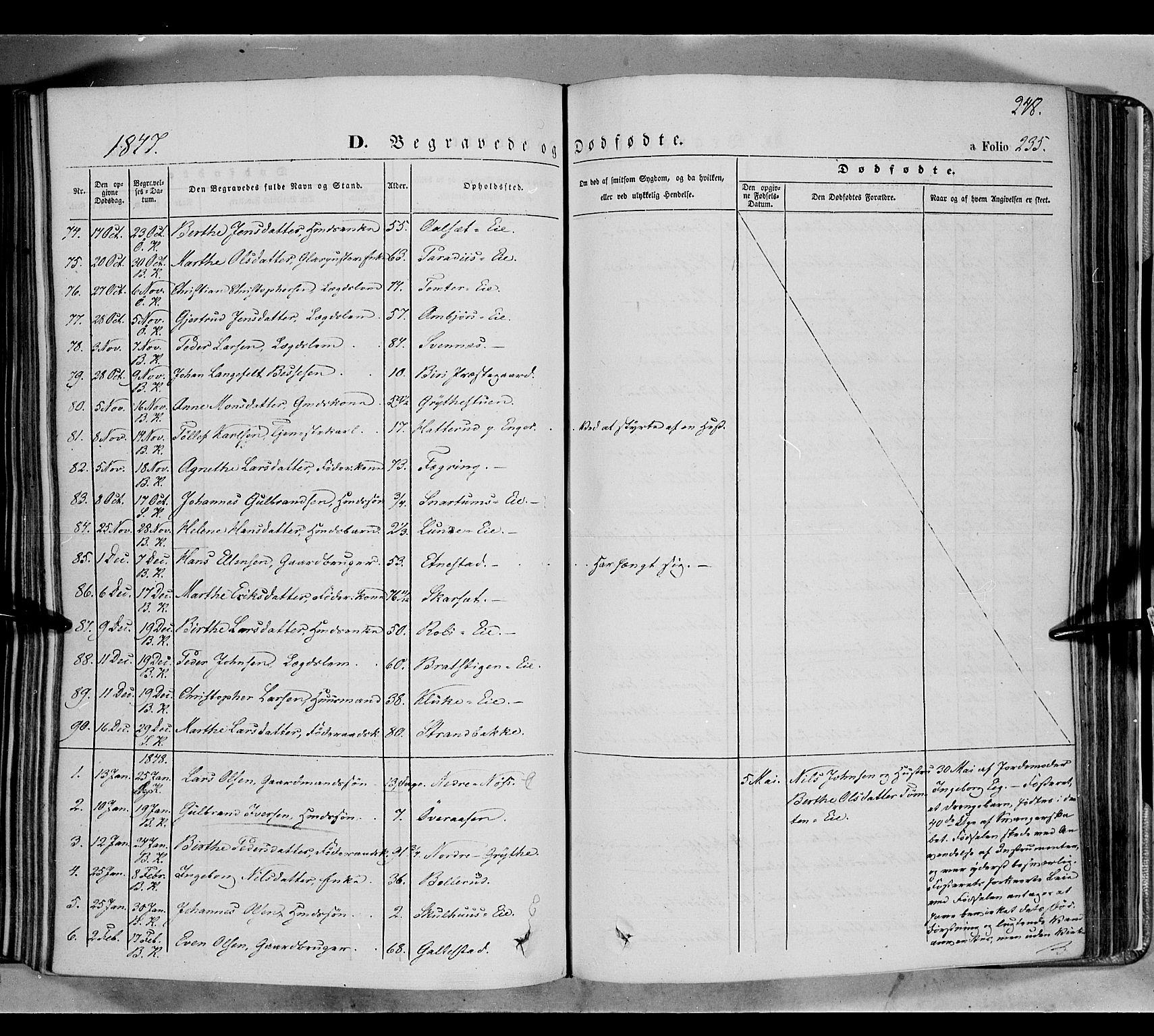 SAH, Biri prestekontor, Ministerialbok nr. 5, 1843-1854, s. 248