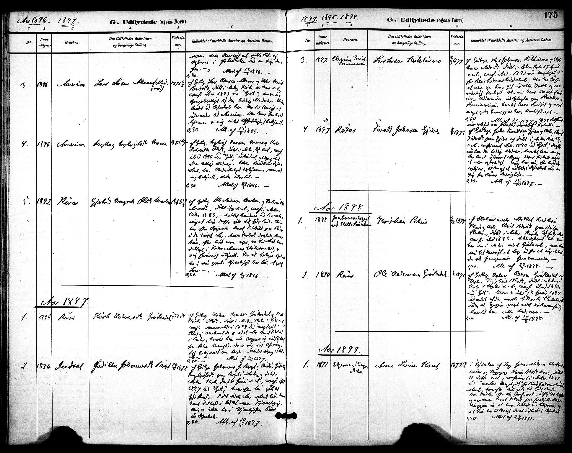 SAT, Ministerialprotokoller, klokkerbøker og fødselsregistre - Sør-Trøndelag, 686/L0984: Ministerialbok nr. 686A02, 1891-1906, s. 175