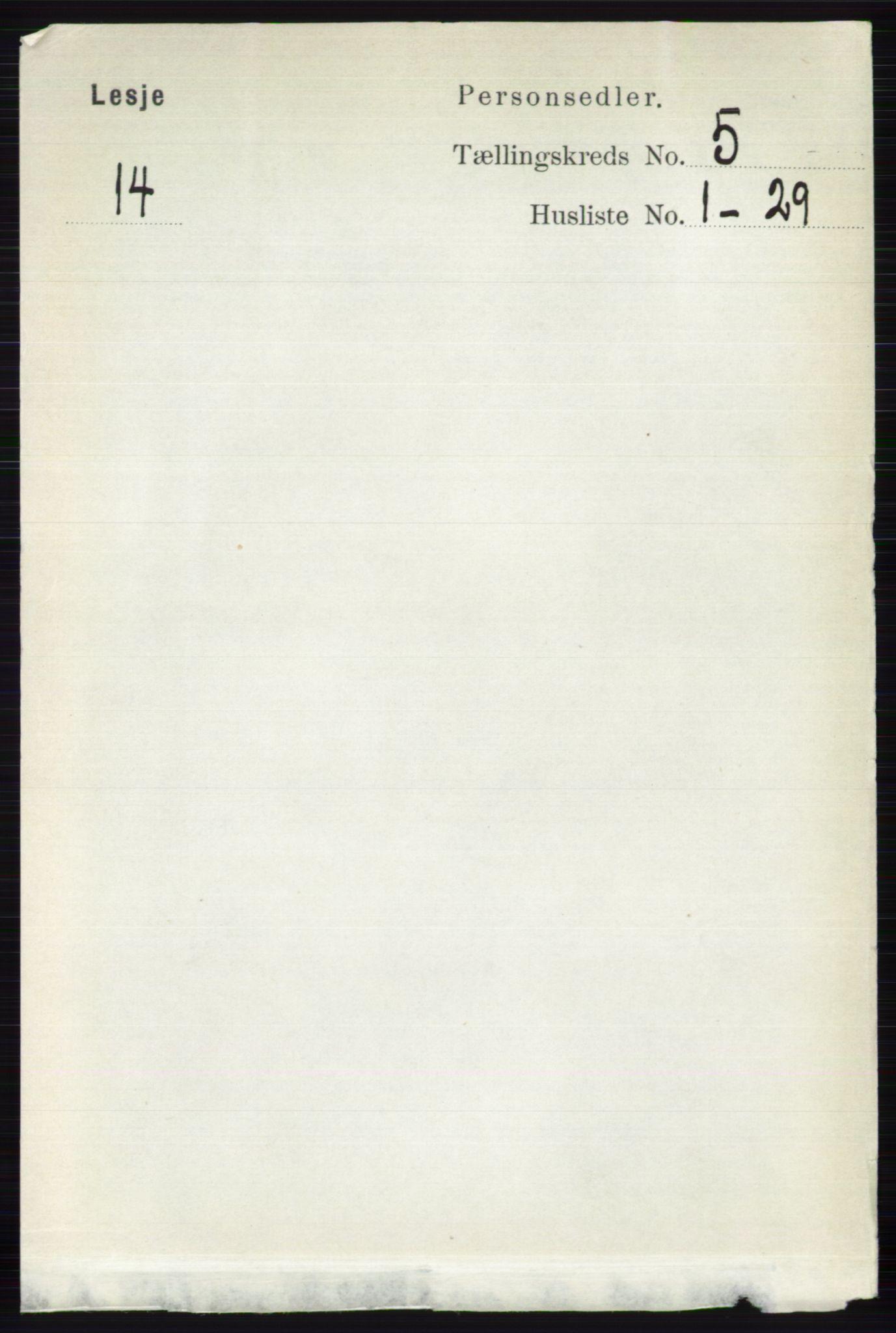 RA, Folketelling 1891 for 0512 Lesja herred, 1891, s. 1681
