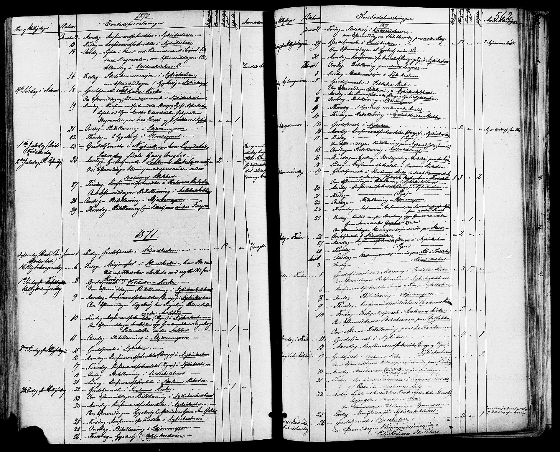 SAH, Gausdal prestekontor, Ministerialbok nr. 10, 1867-1886, s. 562