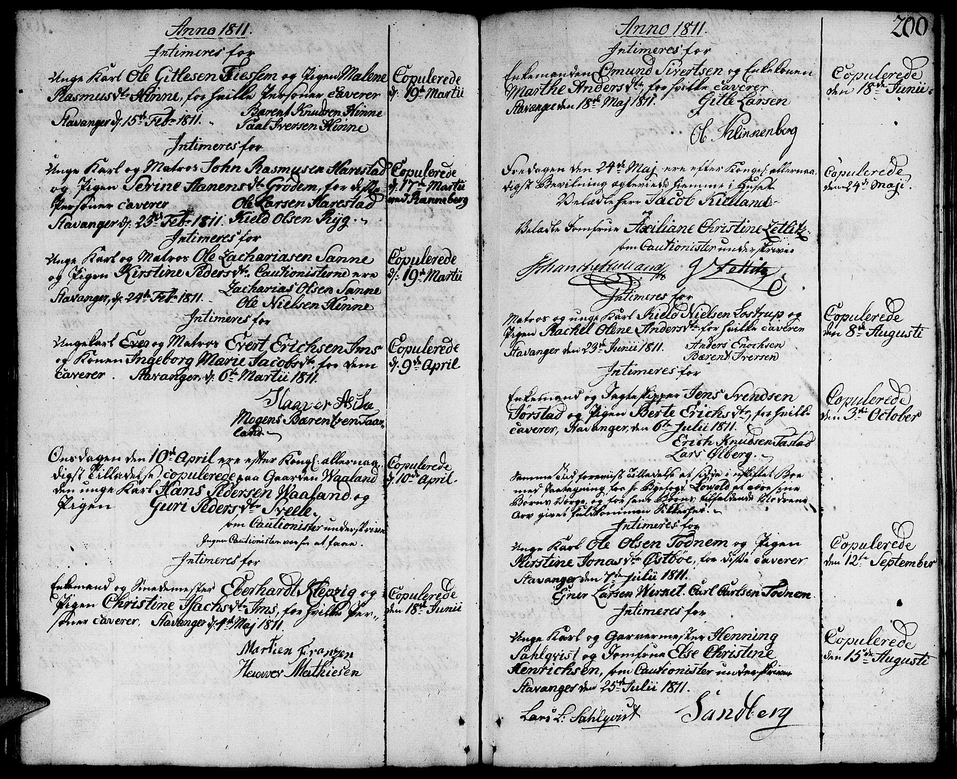 SAST, Domkirken sokneprestkontor, 30/30BA/L0006: Ministerialbok nr. A 6, 1783-1815, s. 200