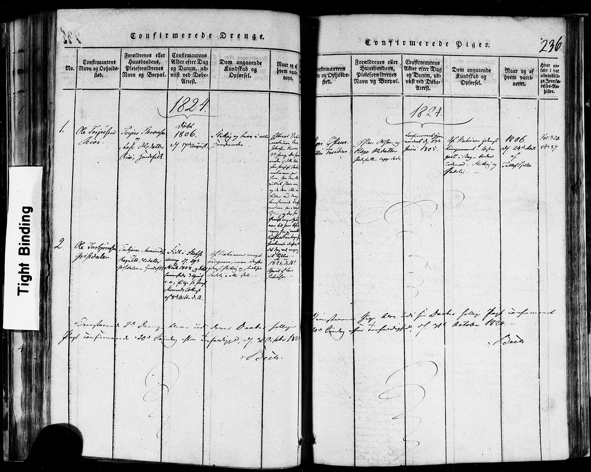 SAKO, Rauland kirkebøker, F/Fa/L0002: Ministerialbok nr. 2, 1815-1860, s. 236