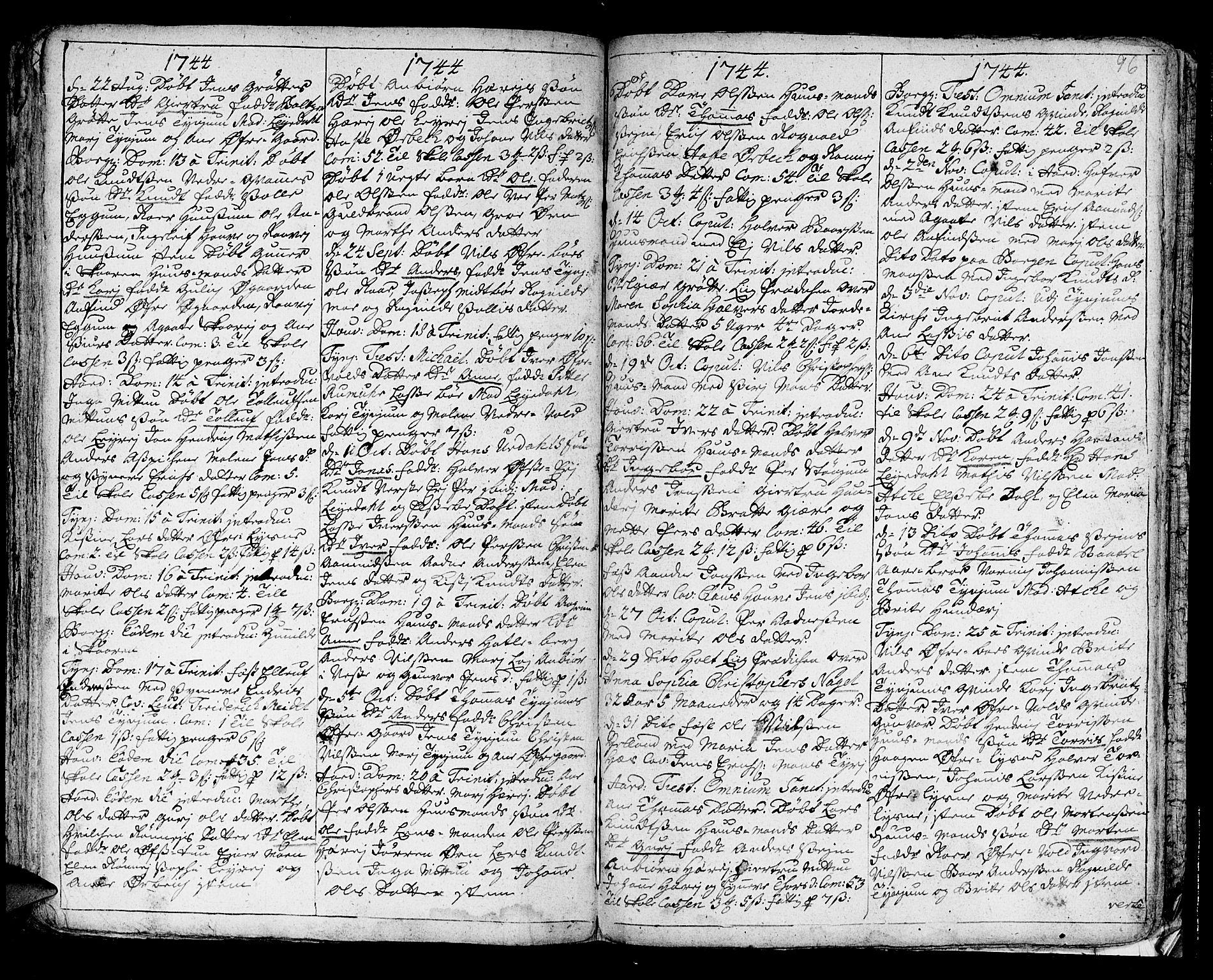 SAB, Lærdal sokneprestembete, Ministerialbok nr. A 1, 1711-1752, s. 96