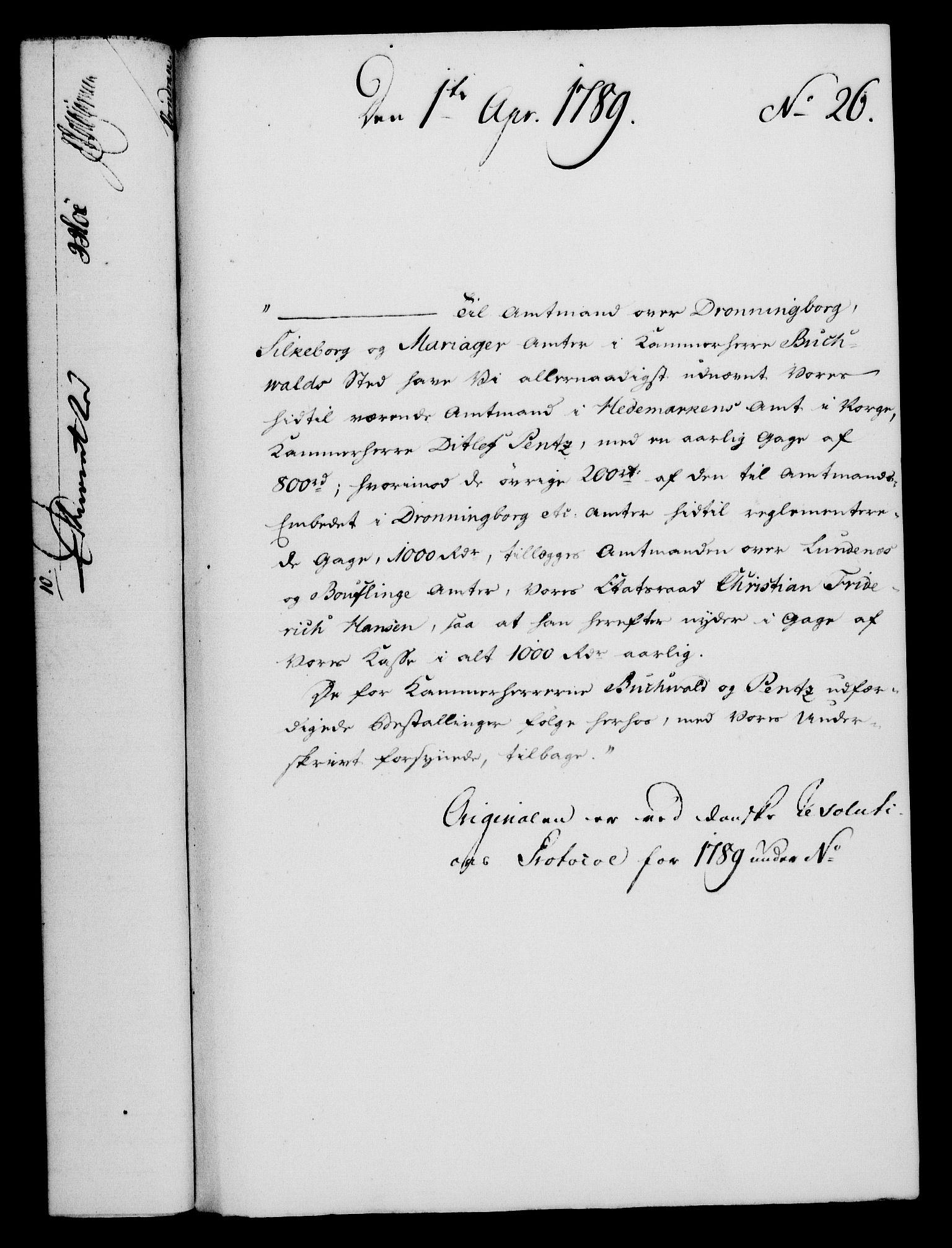 RA, Rentekammeret, Kammerkanselliet, G/Gf/Gfa/L0071: Norsk relasjons- og resolusjonsprotokoll (merket RK 52.71), 1789, s. 224