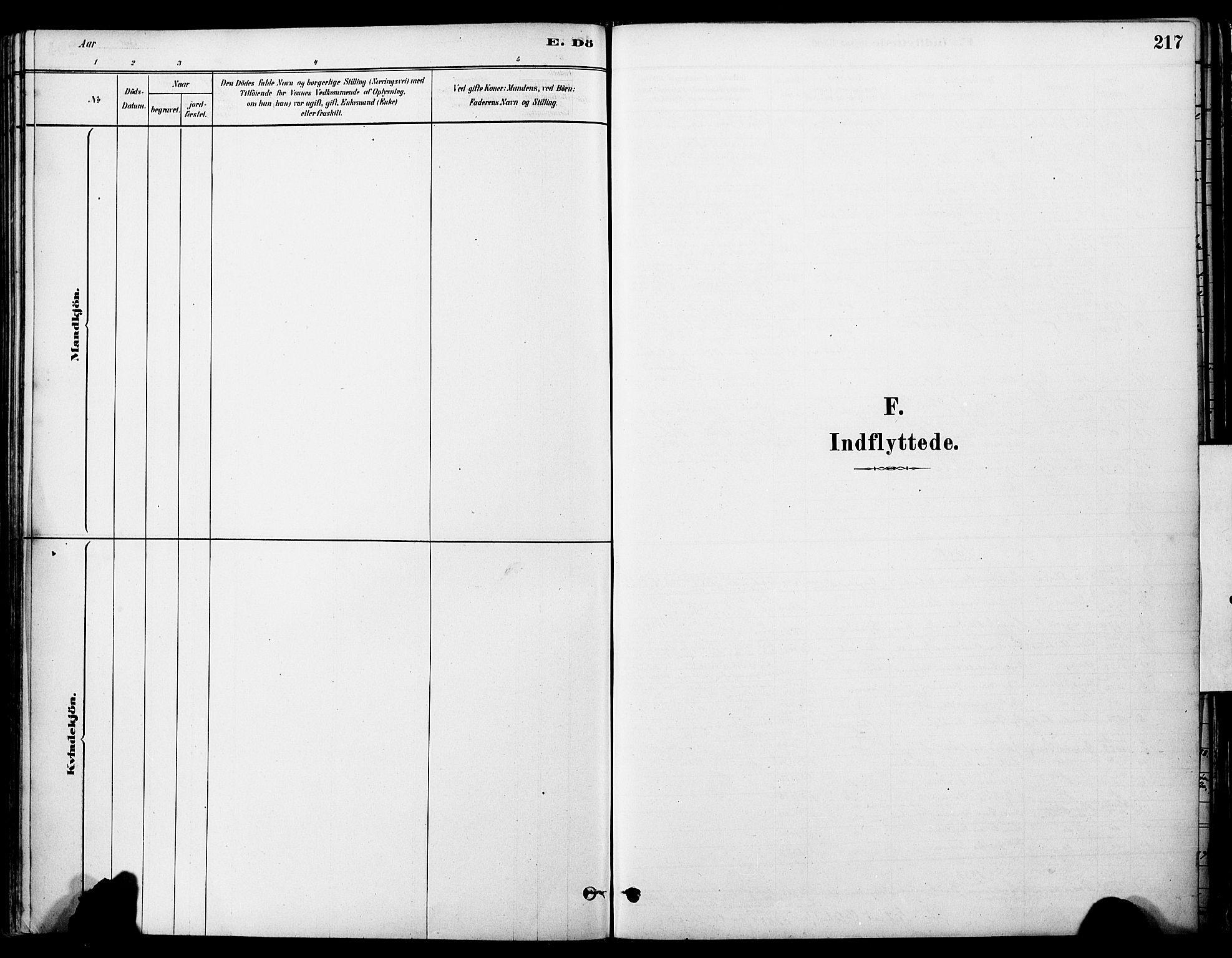 SAT, Ministerialprotokoller, klokkerbøker og fødselsregistre - Sør-Trøndelag, 681/L0933: Ministerialbok nr. 681A11, 1879-1890, s. 217
