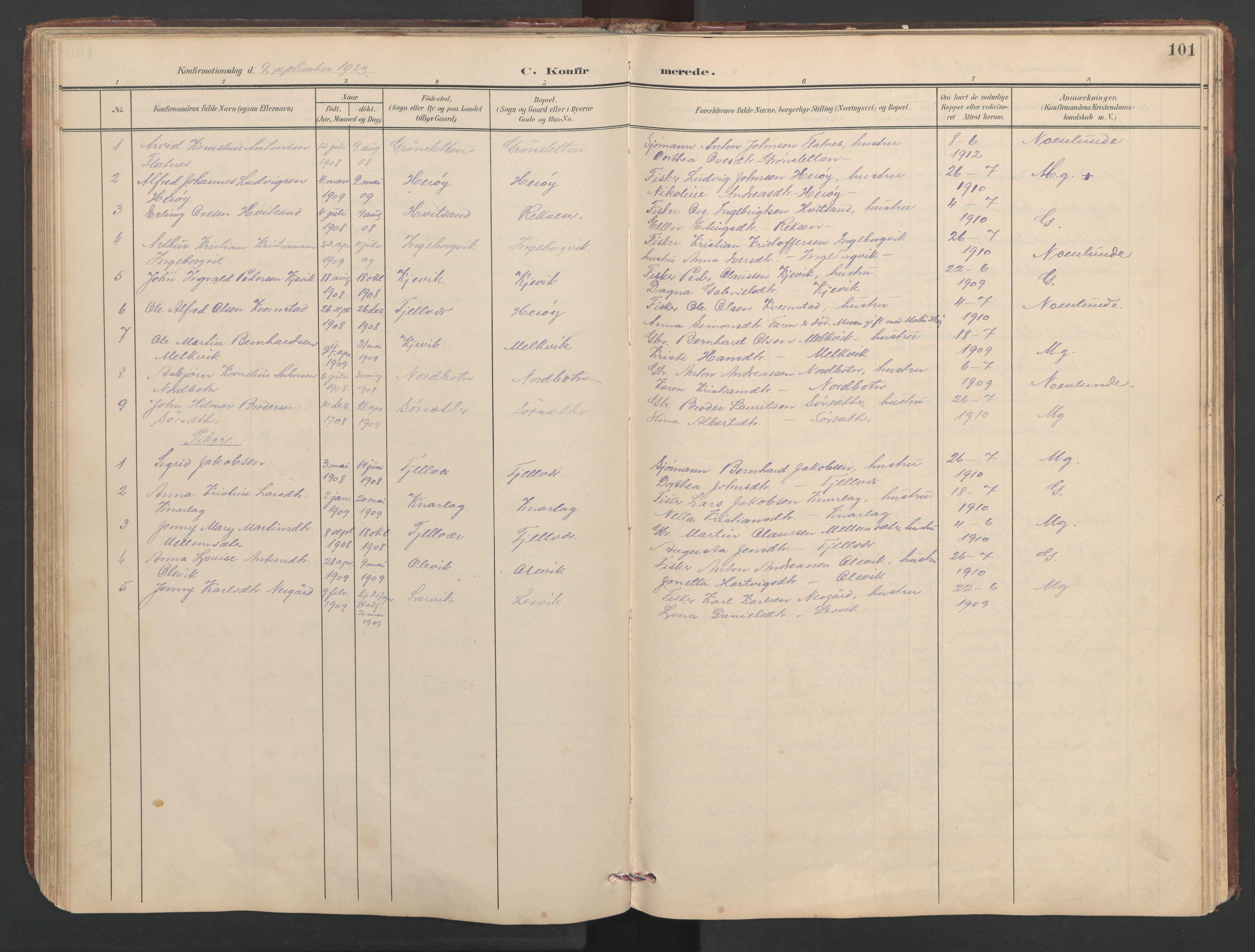 SAT, Ministerialprotokoller, klokkerbøker og fødselsregistre - Sør-Trøndelag, 638/L0571: Klokkerbok nr. 638C03, 1901-1930, s. 101
