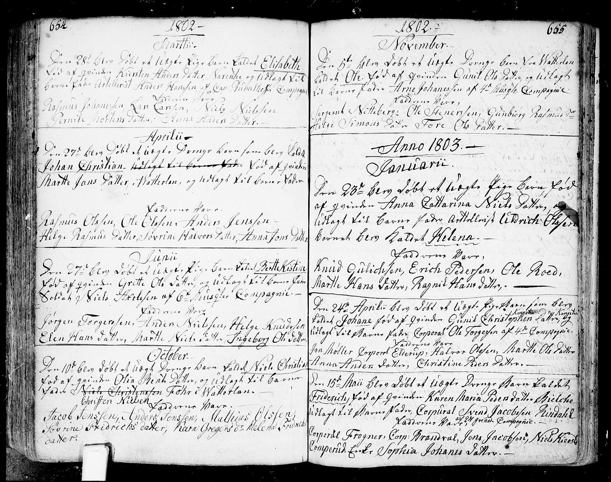 SAO, Fredrikstad prestekontor Kirkebøker, F/Fa/L0002: Ministerialbok nr. 2, 1750-1804, s. 654-655