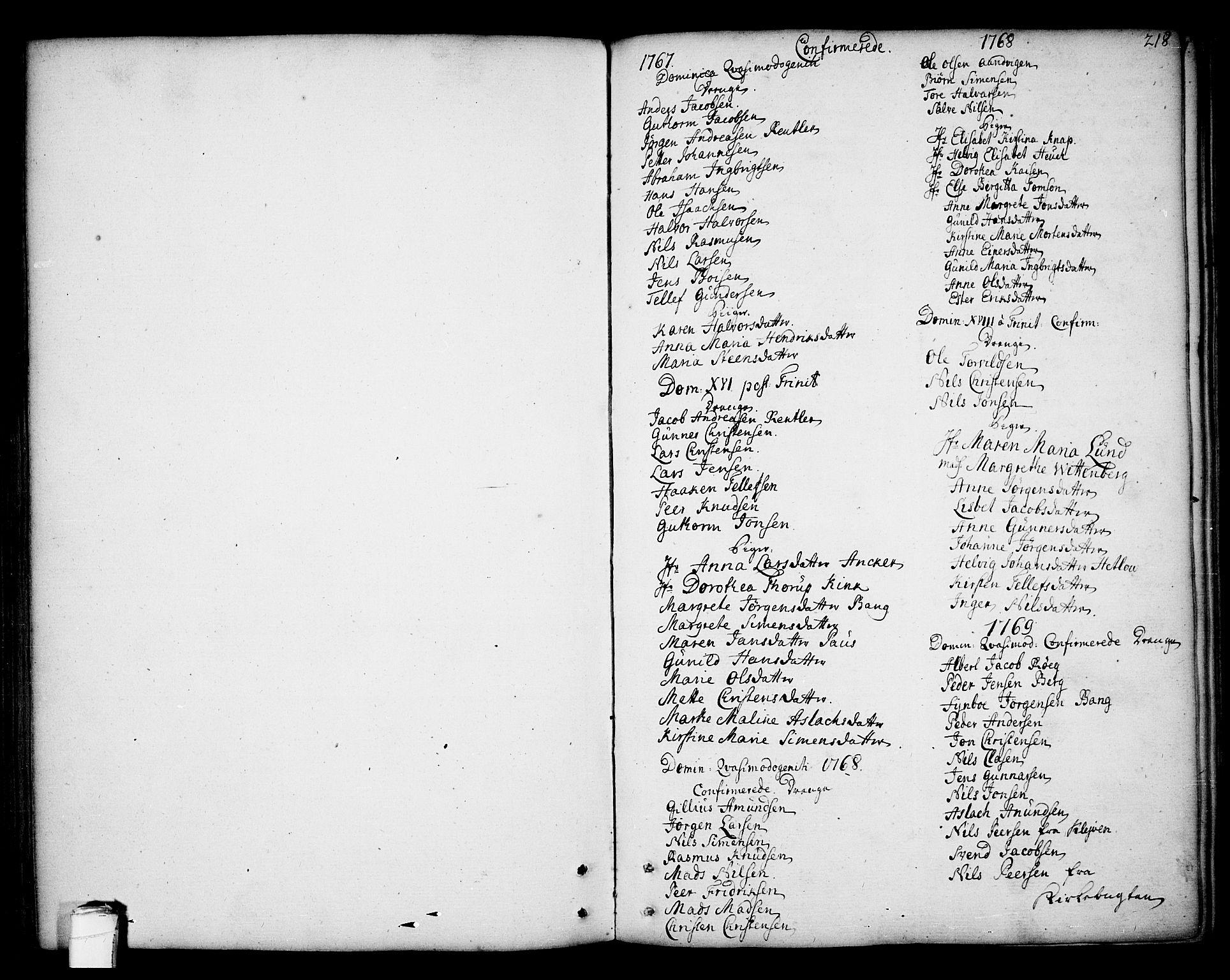 SAKO, Kragerø kirkebøker, F/Fa/L0002: Ministerialbok nr. 2, 1767-1802, s. 218