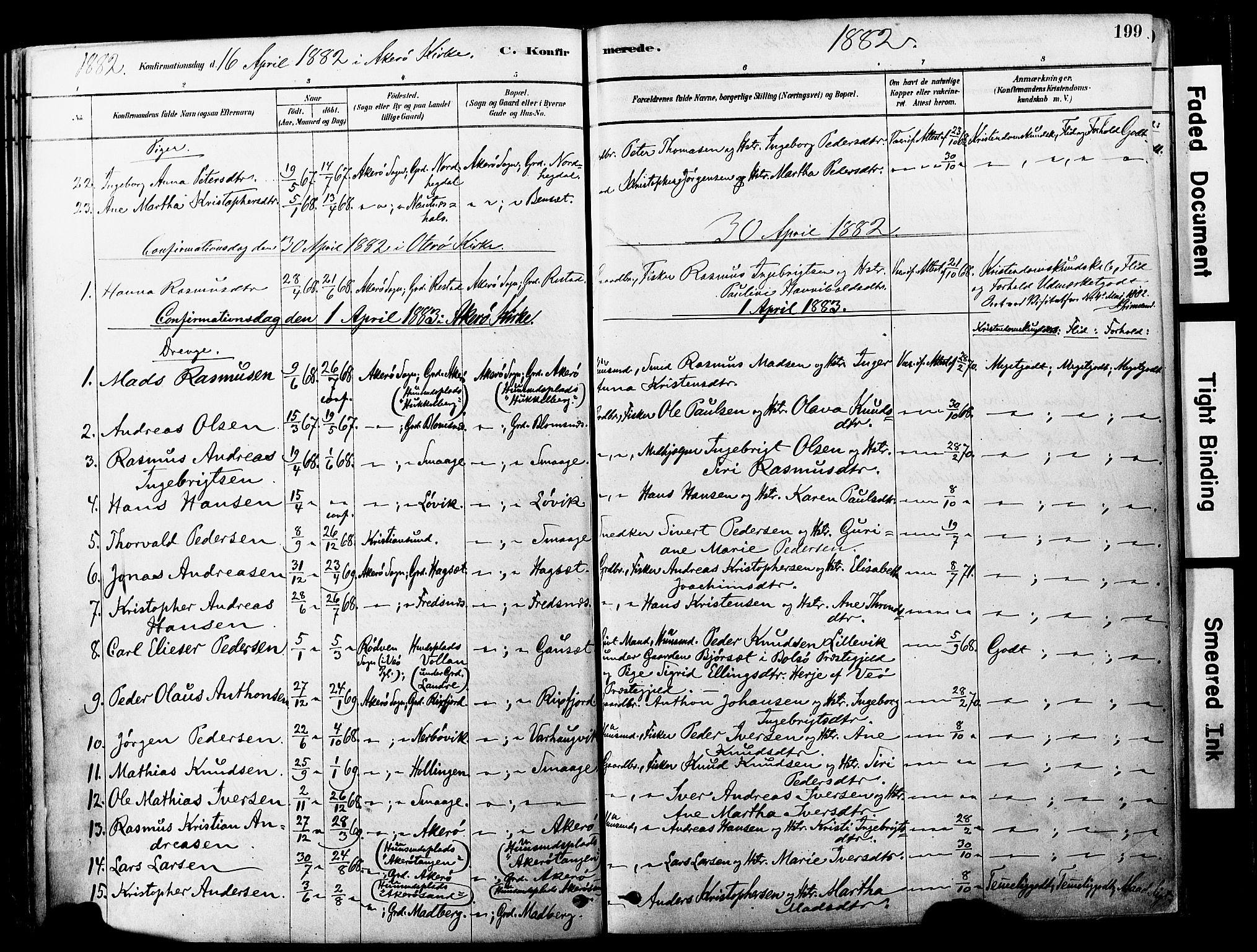 SAT, Ministerialprotokoller, klokkerbøker og fødselsregistre - Møre og Romsdal, 560/L0721: Ministerialbok nr. 560A05, 1878-1917, s. 199