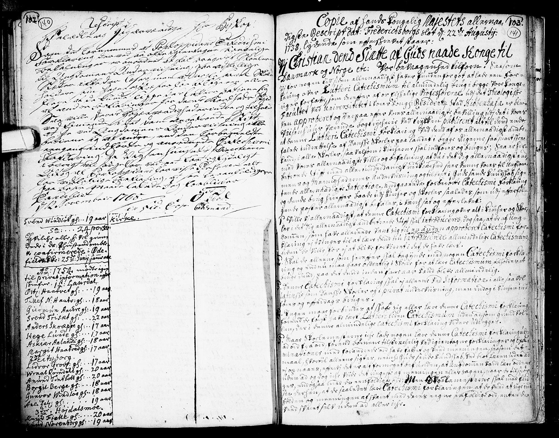 SAKO, Lårdal kirkebøker, F/Fa/L0002: Ministerialbok nr. I 2, 1734-1754, s. 140-141
