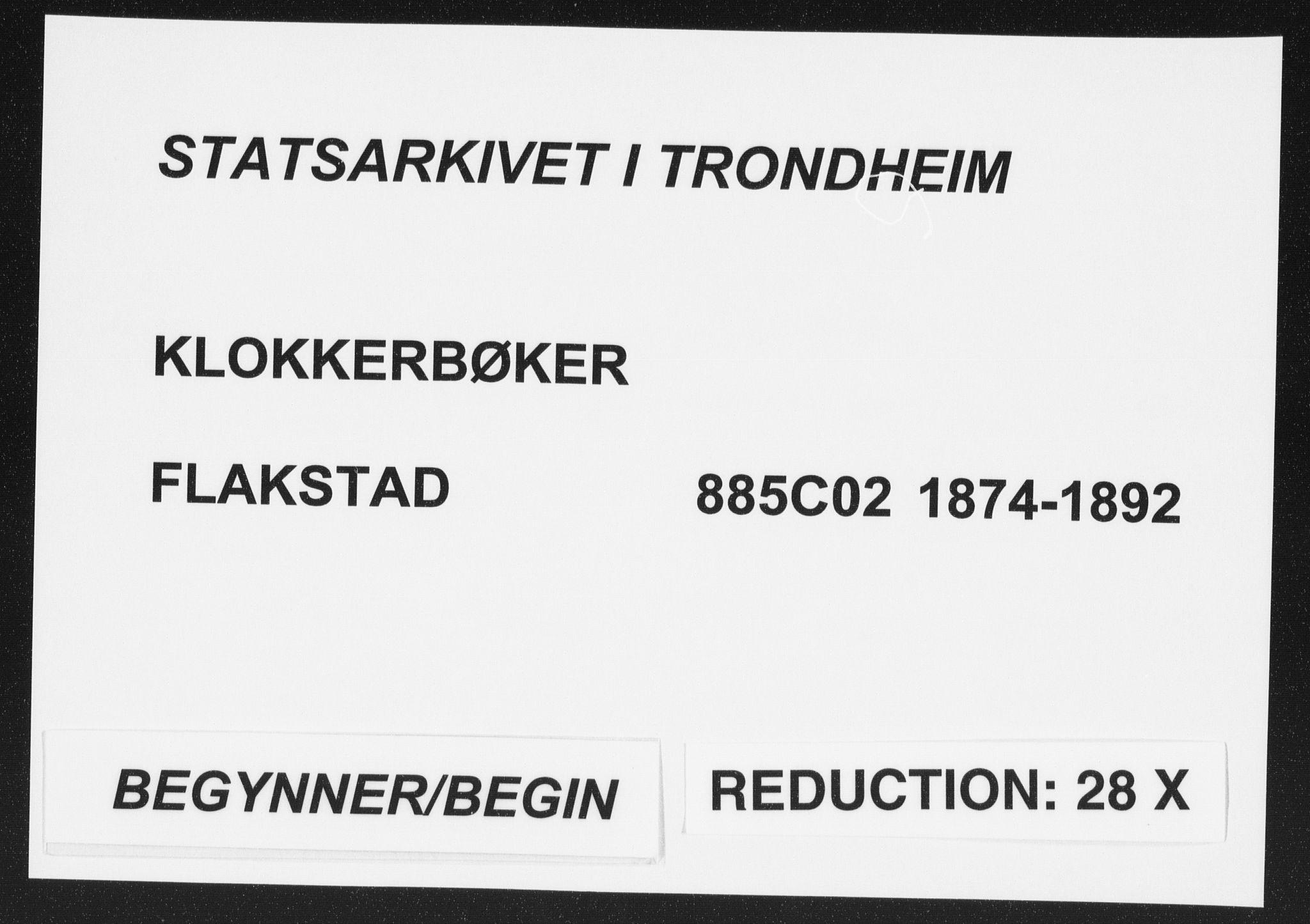 SAT, Ministerialprotokoller, klokkerbøker og fødselsregistre - Nordland, 885/L1213: Klokkerbok nr. 885C02, 1874-1892
