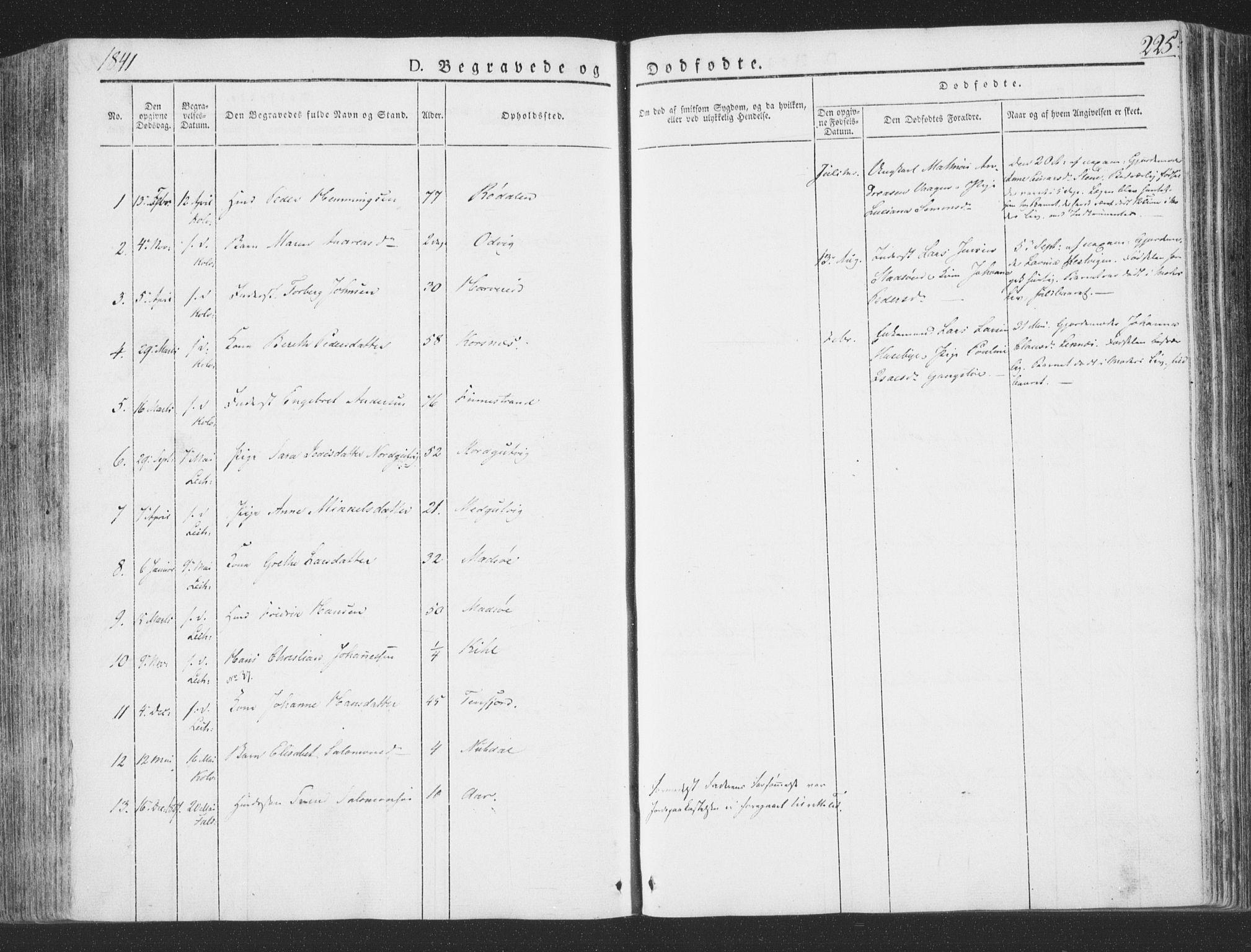 SAT, Ministerialprotokoller, klokkerbøker og fødselsregistre - Nord-Trøndelag, 780/L0639: Ministerialbok nr. 780A04, 1830-1844, s. 225