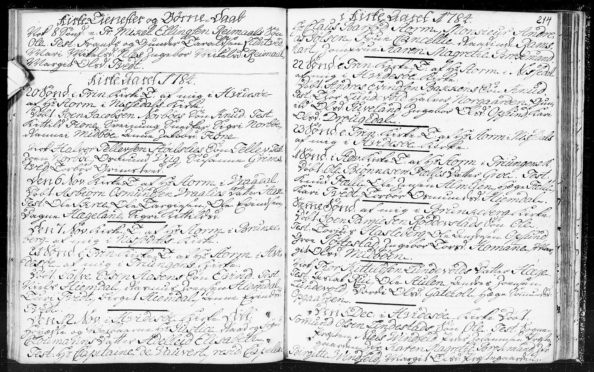 SAKO, Kviteseid kirkebøker, F/Fa/L0002: Ministerialbok nr. I 2, 1773-1786, s. 214