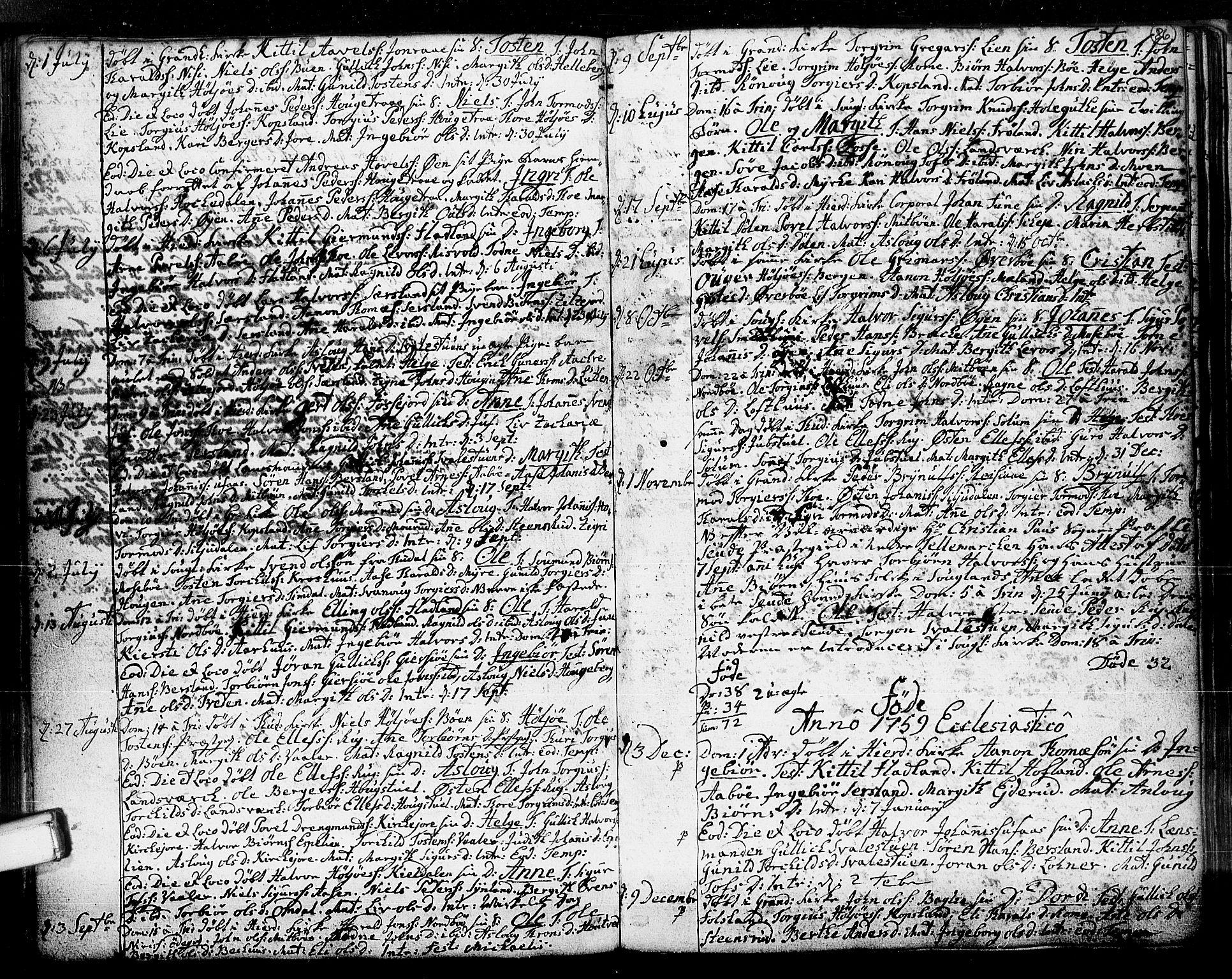 SAKO, Hjartdal kirkebøker, F/Fa/L0003: Ministerialbok nr. I 3, 1727-1775, s. 86