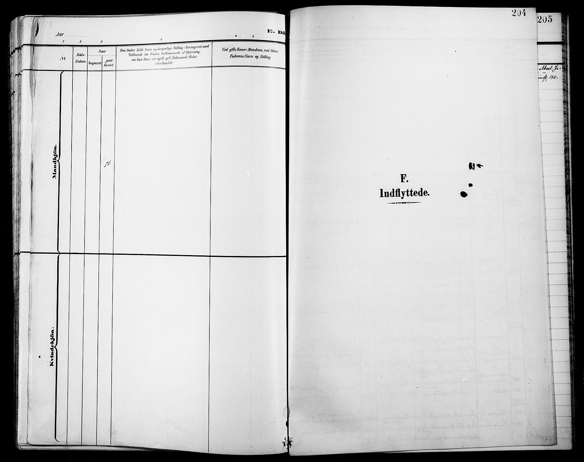 SAH, Jevnaker prestekontor, Klokkerbok nr. 4, 1907-1918, s. 204