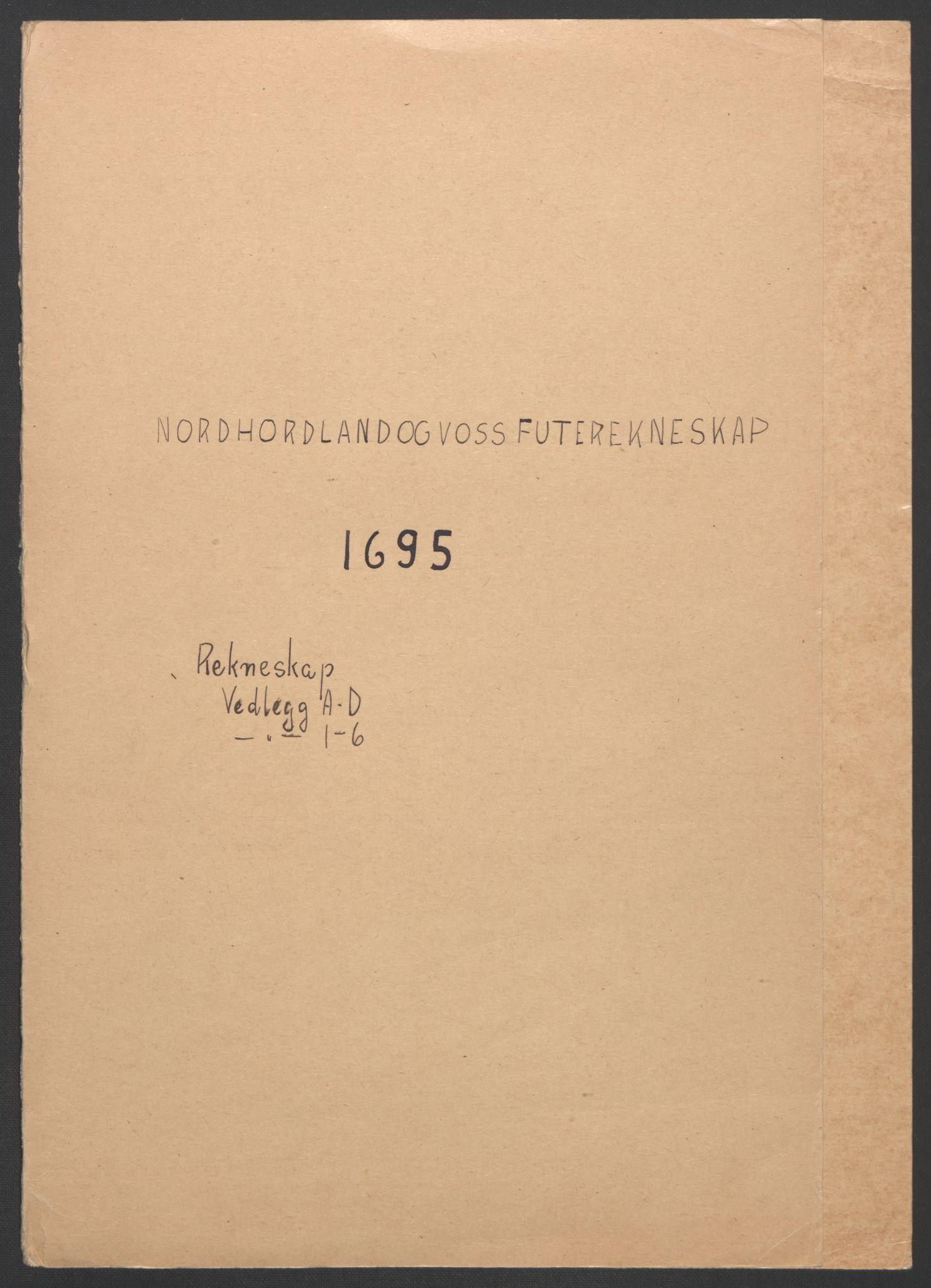 RA, Rentekammeret inntil 1814, Reviderte regnskaper, Fogderegnskap, R51/L3183: Fogderegnskap Nordhordland og Voss, 1695-1697, s. 2