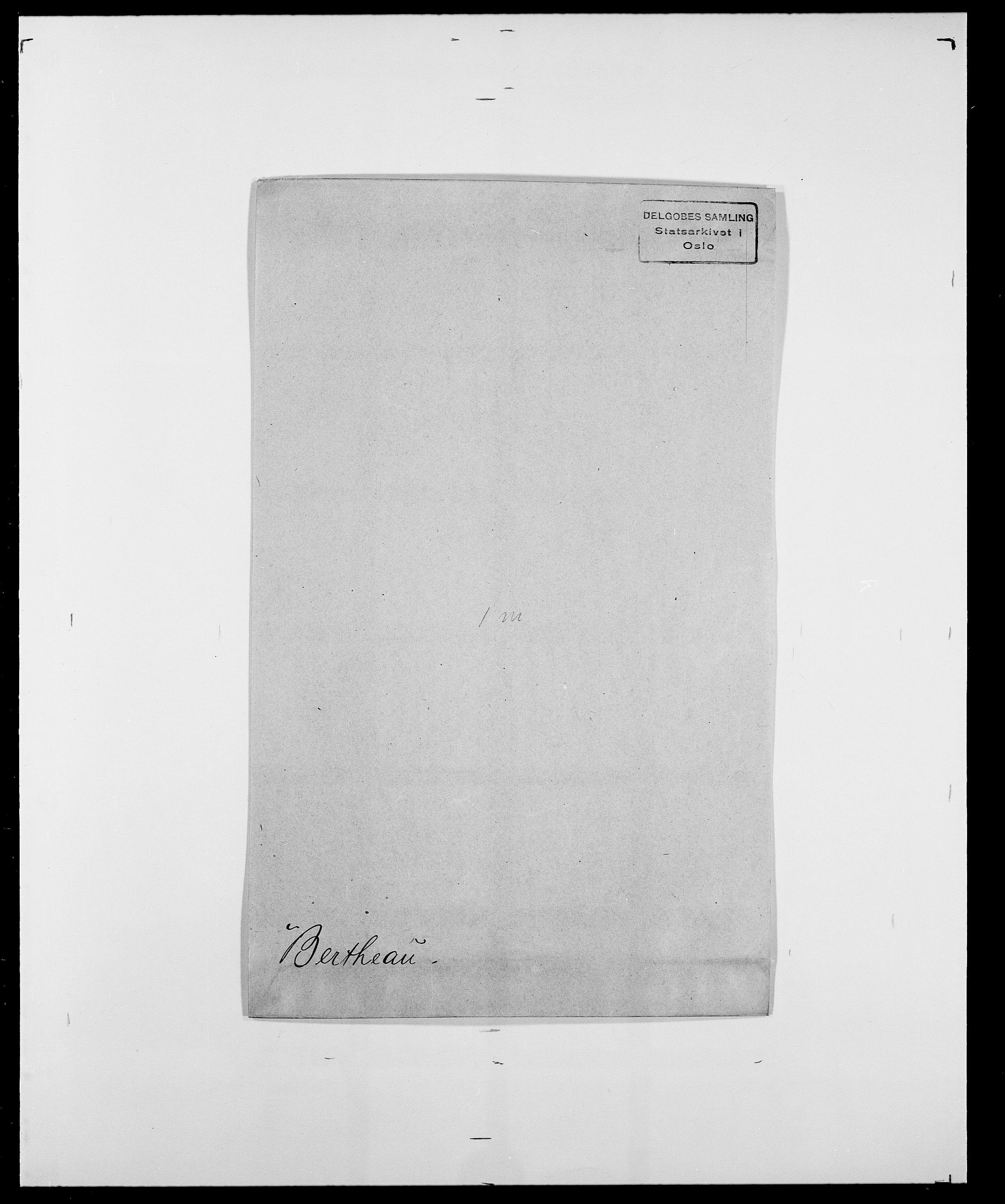 SAO, Delgobe, Charles Antoine - samling, D/Da/L0004: Bergendahl - Blære, s. 109