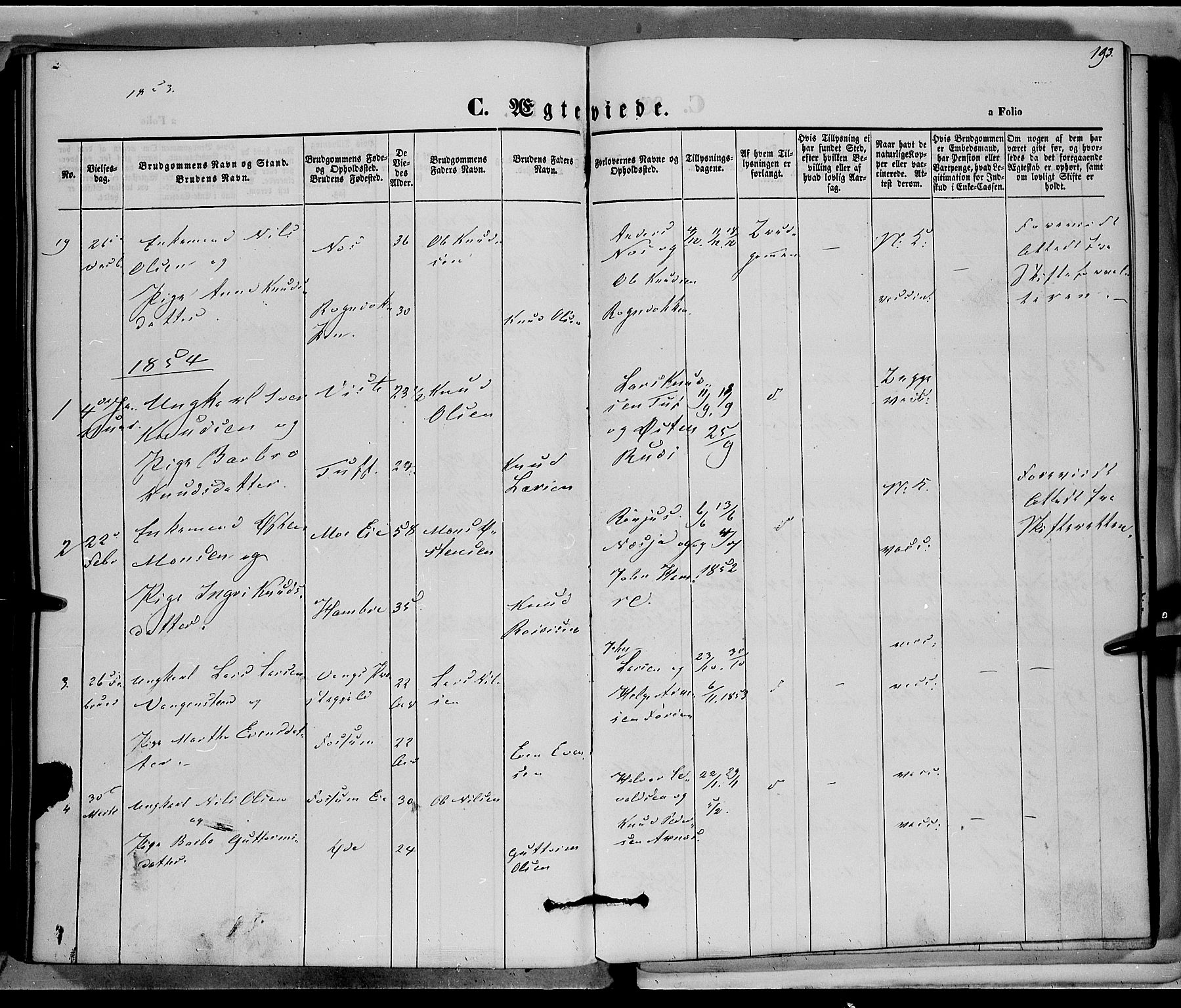 SAH, Vestre Slidre prestekontor, Ministerialbok nr. 1, 1844-1855, s. 193