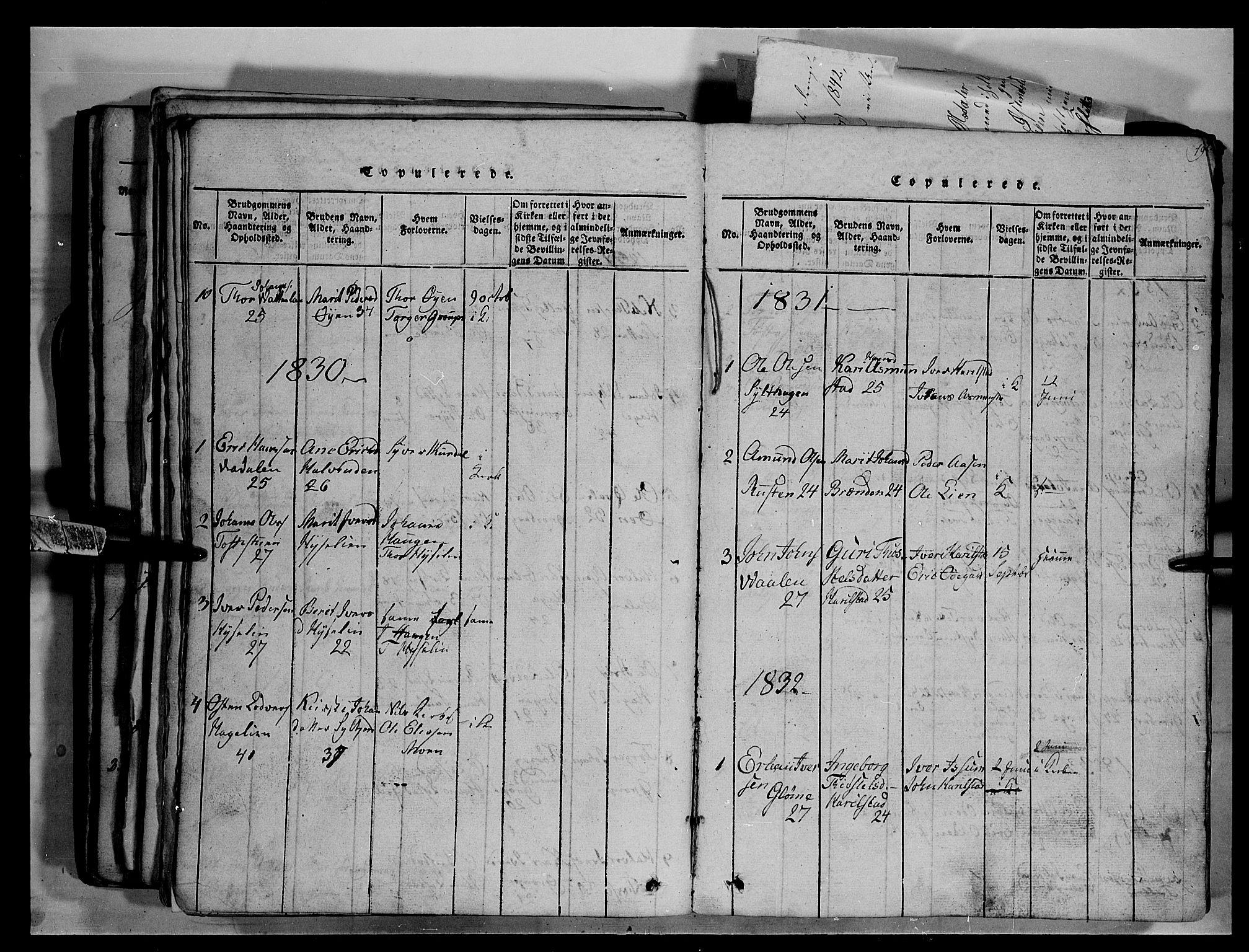 SAH, Fron prestekontor, H/Ha/Hab/L0003: Klokkerbok nr. 3, 1816-1850, s. 198