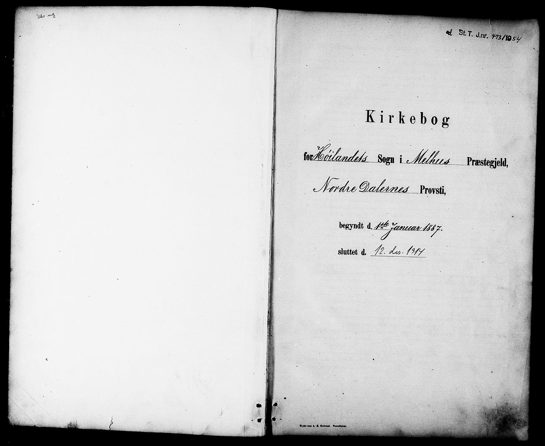 SAT, Ministerialprotokoller, klokkerbøker og fødselsregistre - Sør-Trøndelag, 694/L1132: Klokkerbok nr. 694C04, 1887-1914
