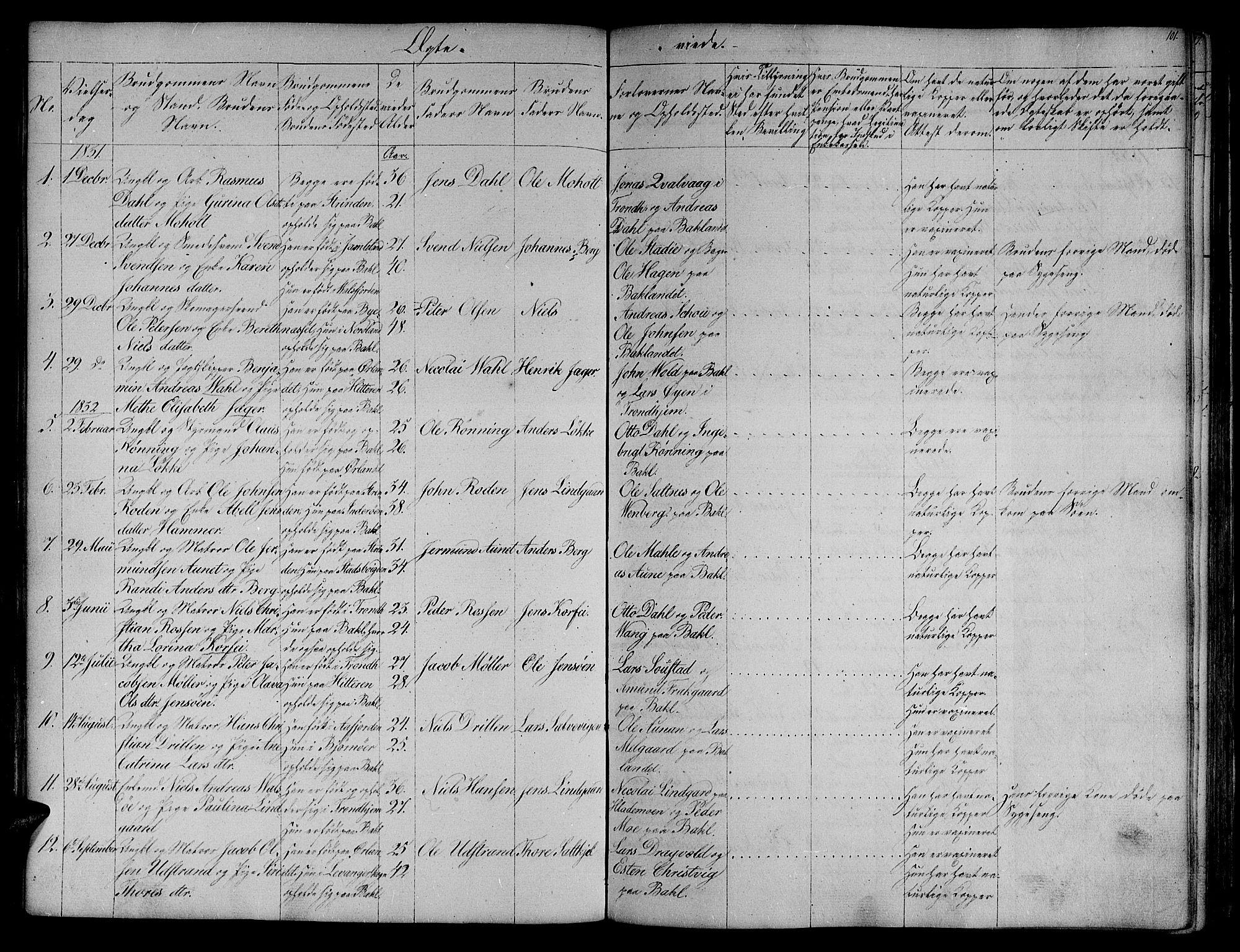 SAT, Ministerialprotokoller, klokkerbøker og fødselsregistre - Sør-Trøndelag, 604/L0182: Ministerialbok nr. 604A03, 1818-1850, s. 101