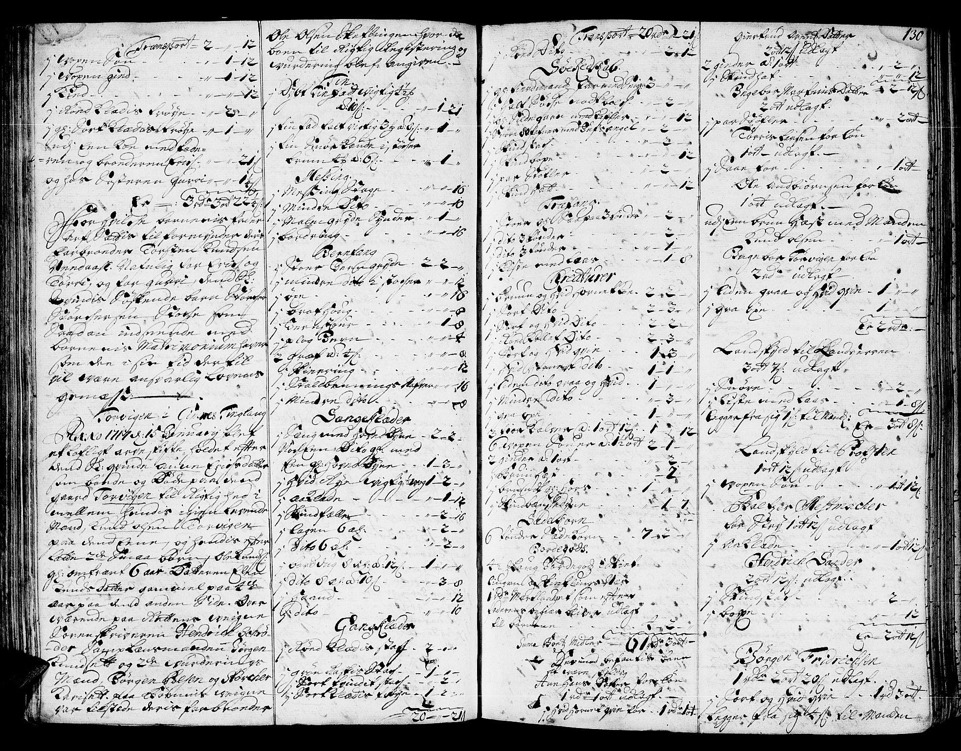 SAT, Nordmøre sorenskriveri, 3/3A/L0005: Skifteprotokoll nr. 5, 1714-1720, s. 129b-130a