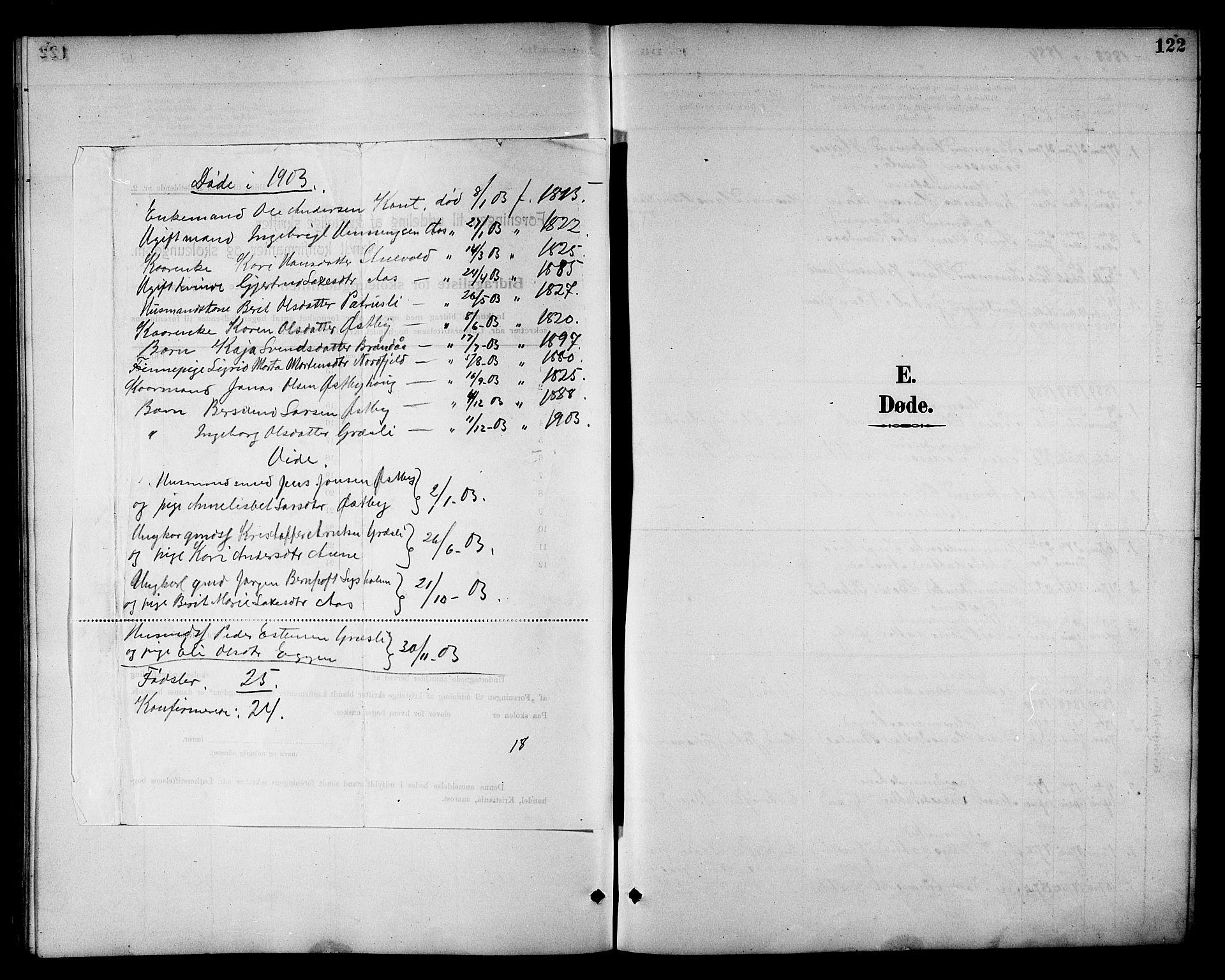 SAT, Ministerialprotokoller, klokkerbøker og fødselsregistre - Sør-Trøndelag, 698/L1167: Klokkerbok nr. 698C04, 1888-1907, s. 122