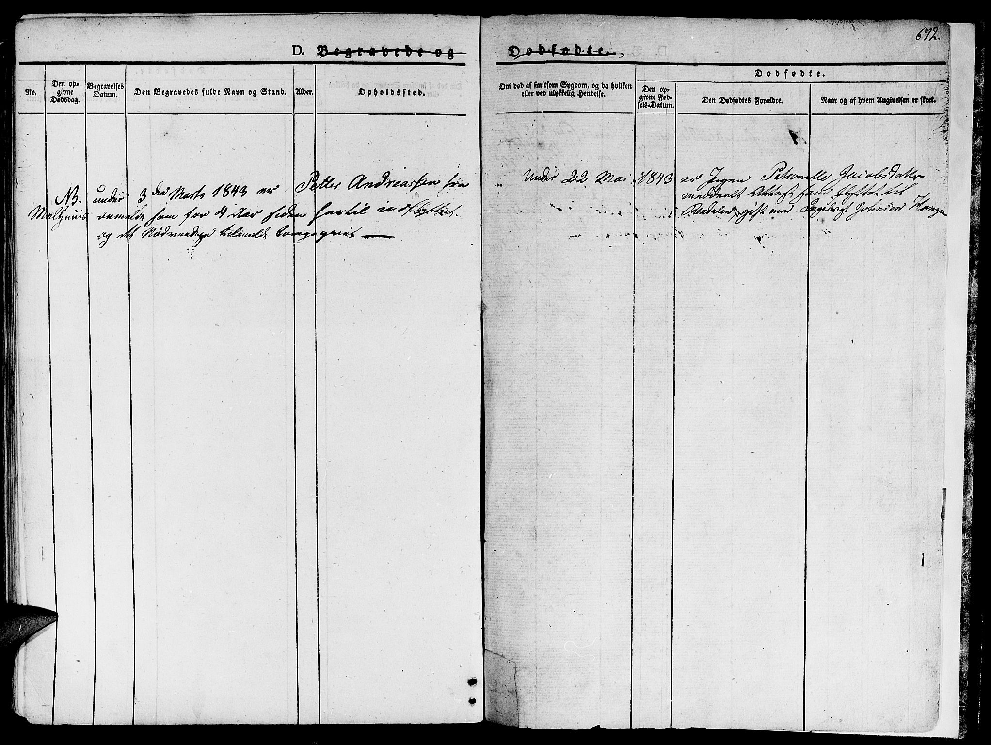 SAT, Ministerialprotokoller, klokkerbøker og fødselsregistre - Sør-Trøndelag, 681/L0930: Ministerialbok nr. 681A08, 1829-1844, s. 672