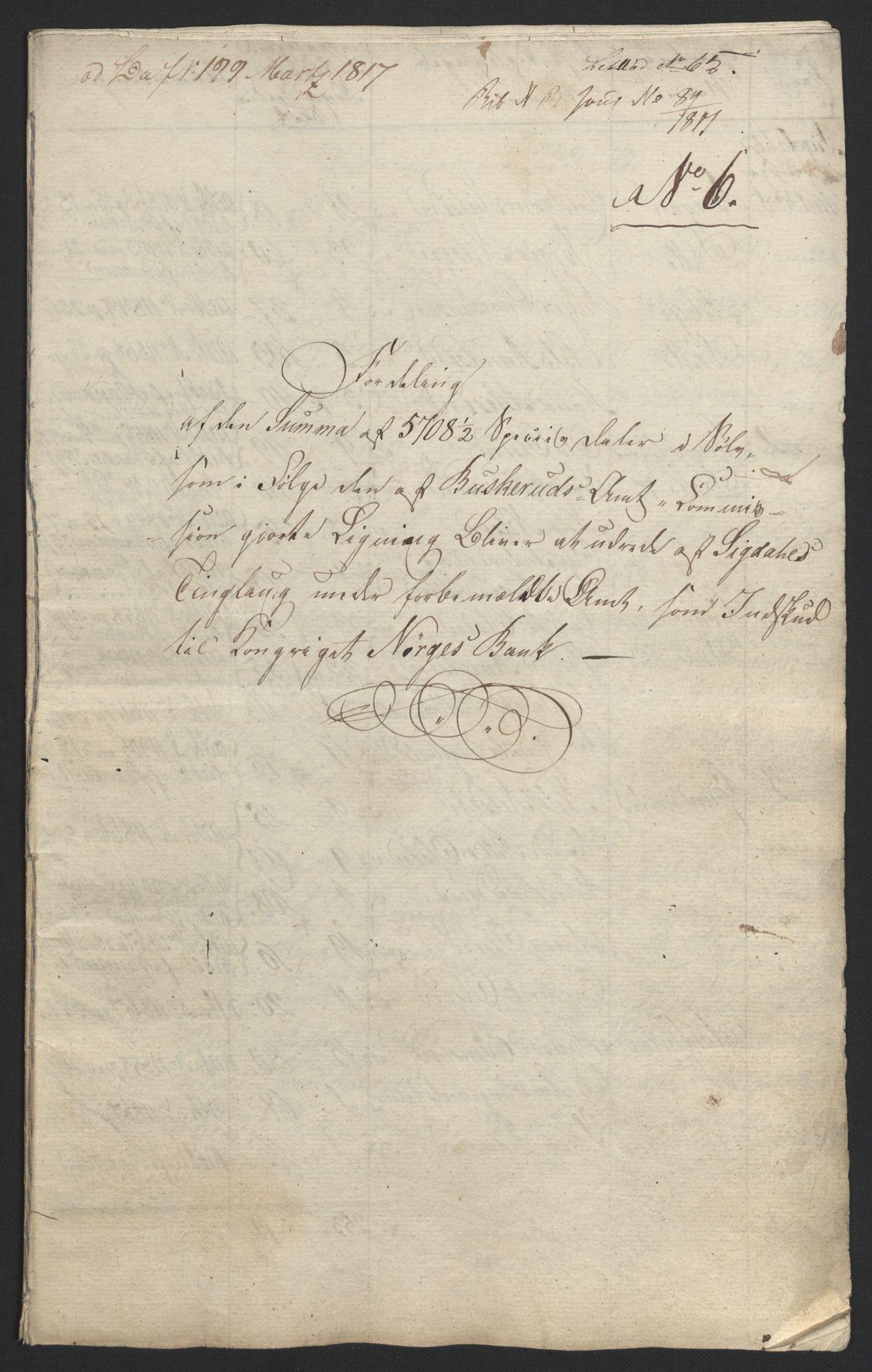 NOBA, Norges Bank/Sølvskatten 1816*, 1816-1822, s. 101