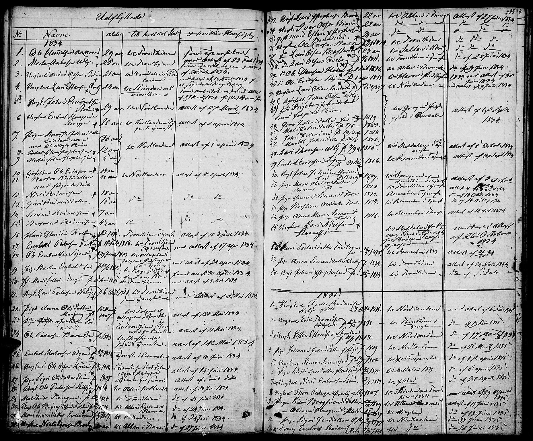 SAH, Tynset prestekontor, Ministerialbok nr. 19, 1829-1847, s. 333