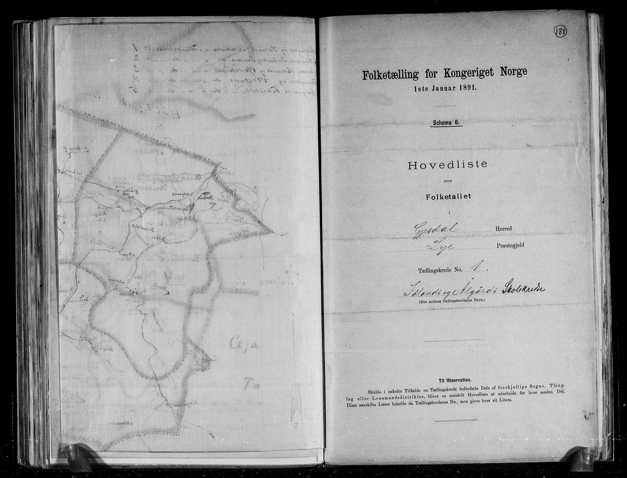 RA, Folketelling 1891 for 1122 Gjesdal herred, 1891, s. 7