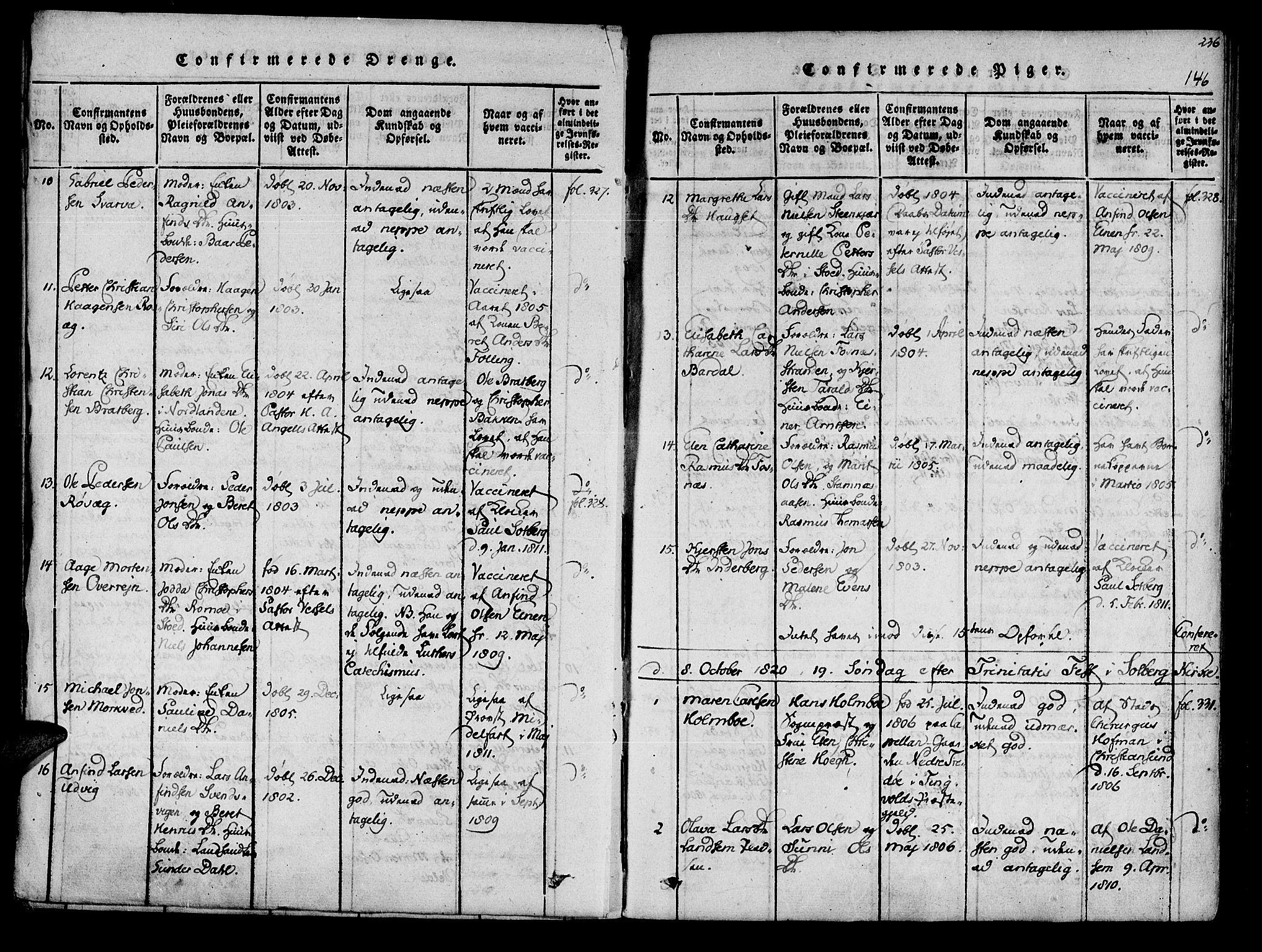 SAT, Ministerialprotokoller, klokkerbøker og fødselsregistre - Nord-Trøndelag, 741/L0387: Ministerialbok nr. 741A03 /1, 1817-1822, s. 146