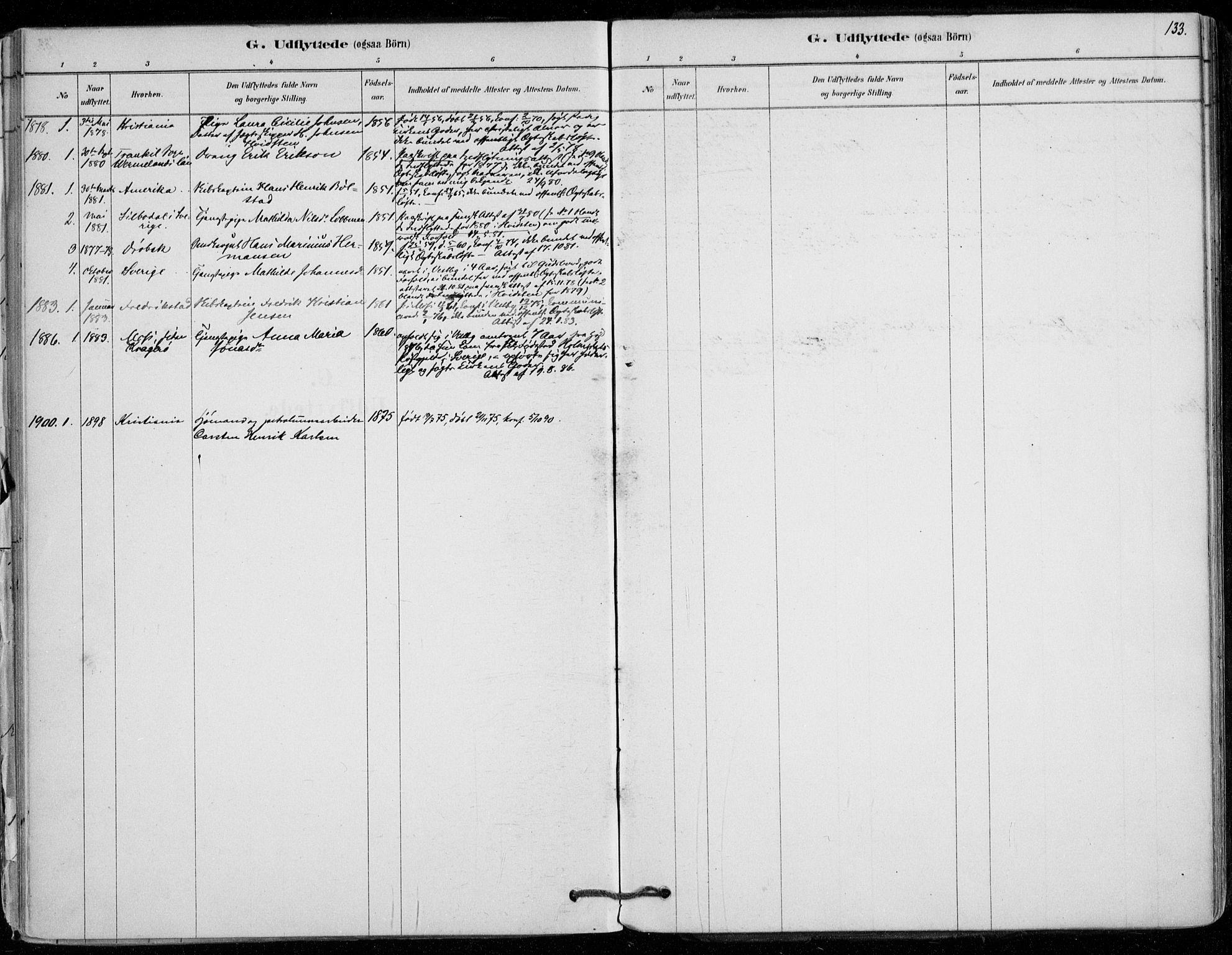 SAO, Vestby prestekontor Kirkebøker, F/Fd/L0001: Ministerialbok nr. IV 1, 1878-1945, s. 133