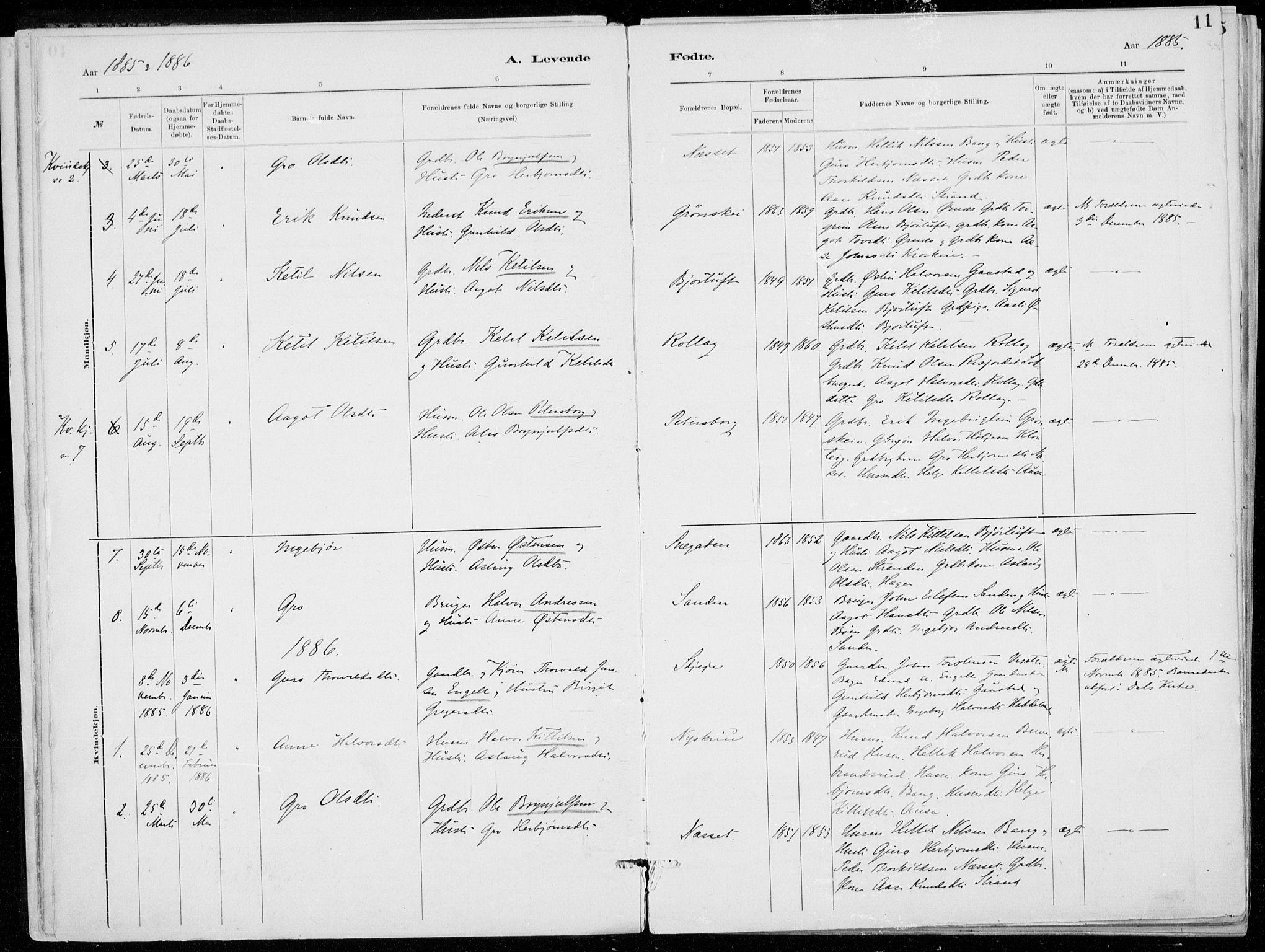SAKO, Tinn kirkebøker, F/Fb/L0002: Ministerialbok nr. II 2, 1878-1917, s. 11