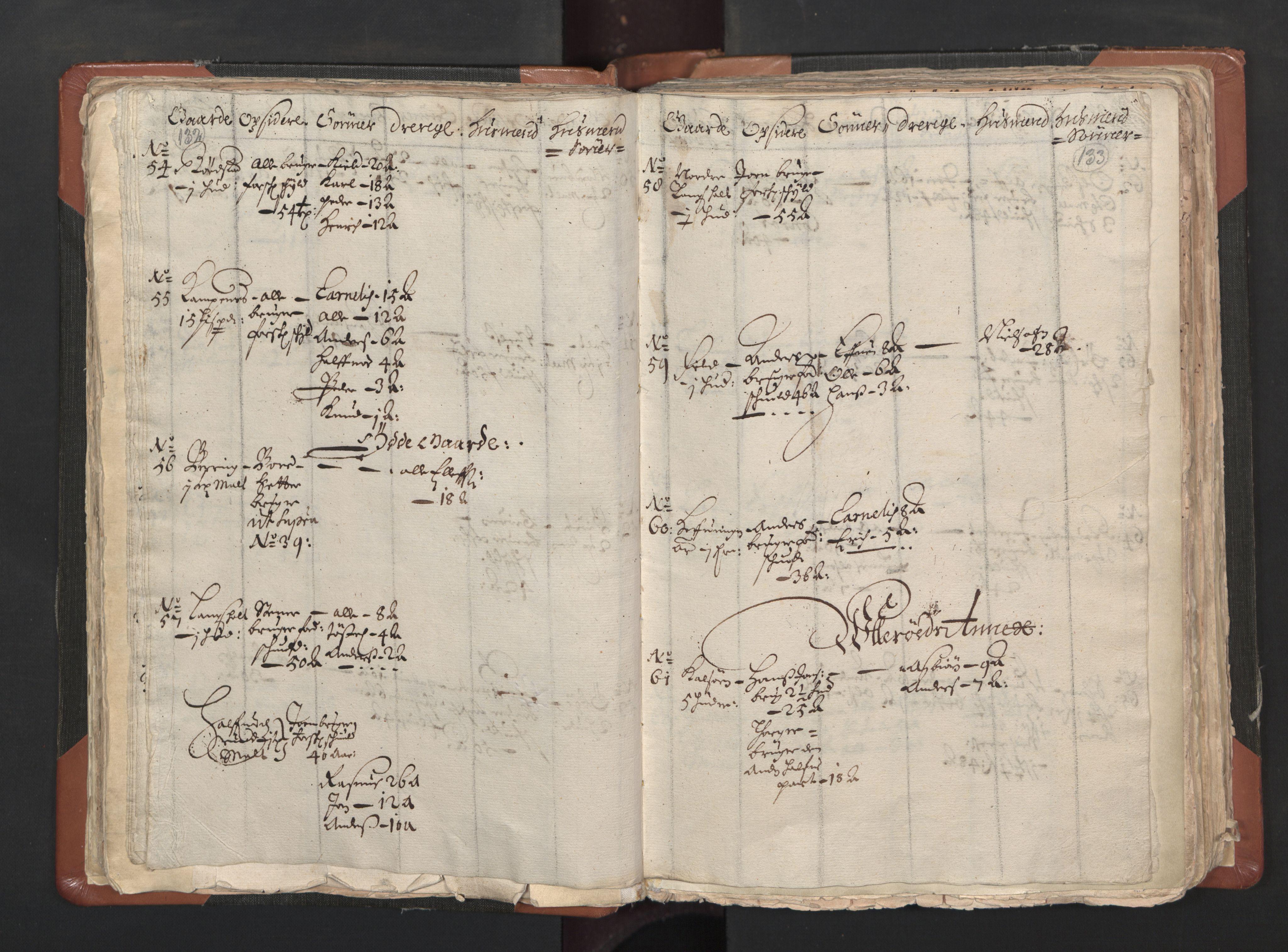 RA, Sogneprestenes manntall 1664-1666, nr. 1: Nedre Borgesyssel prosti, 1664-1666, s. 132-133