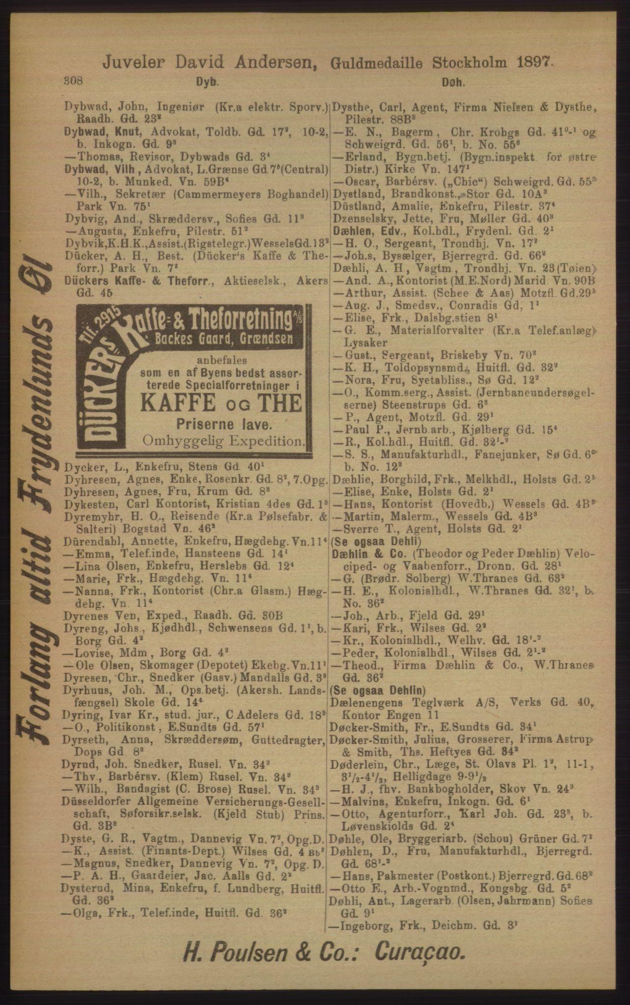PUBL, Kristiania/Oslo adressebok, 1906, s. 308