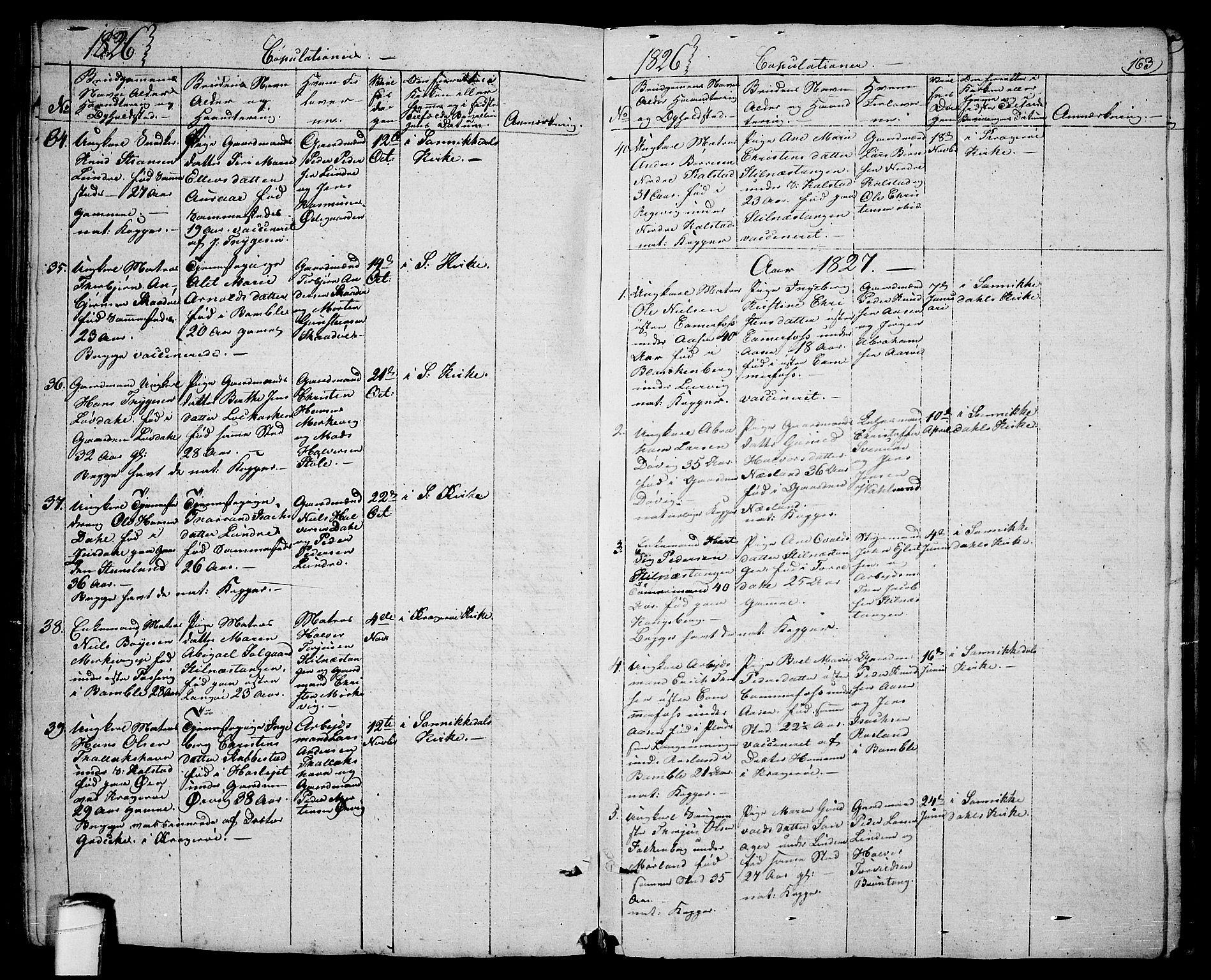 SAKO, Sannidal kirkebøker, F/Fa/L0005: Ministerialbok nr. 5, 1823-1830, s. 163