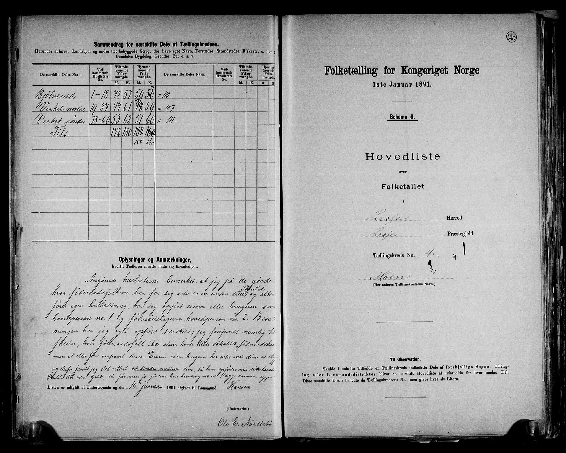 RA, Folketelling 1891 for 0512 Lesja herred, 1891, s. 11