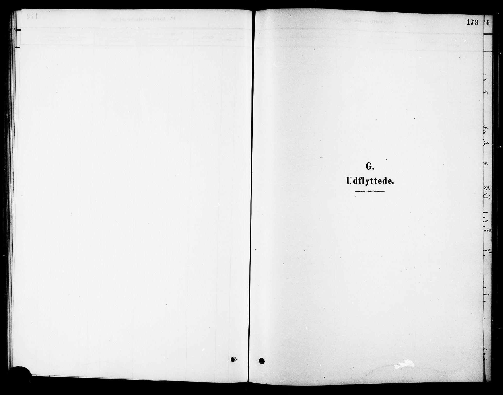 SAT, Ministerialprotokoller, klokkerbøker og fødselsregistre - Sør-Trøndelag, 688/L1024: Ministerialbok nr. 688A01, 1879-1890, s. 173