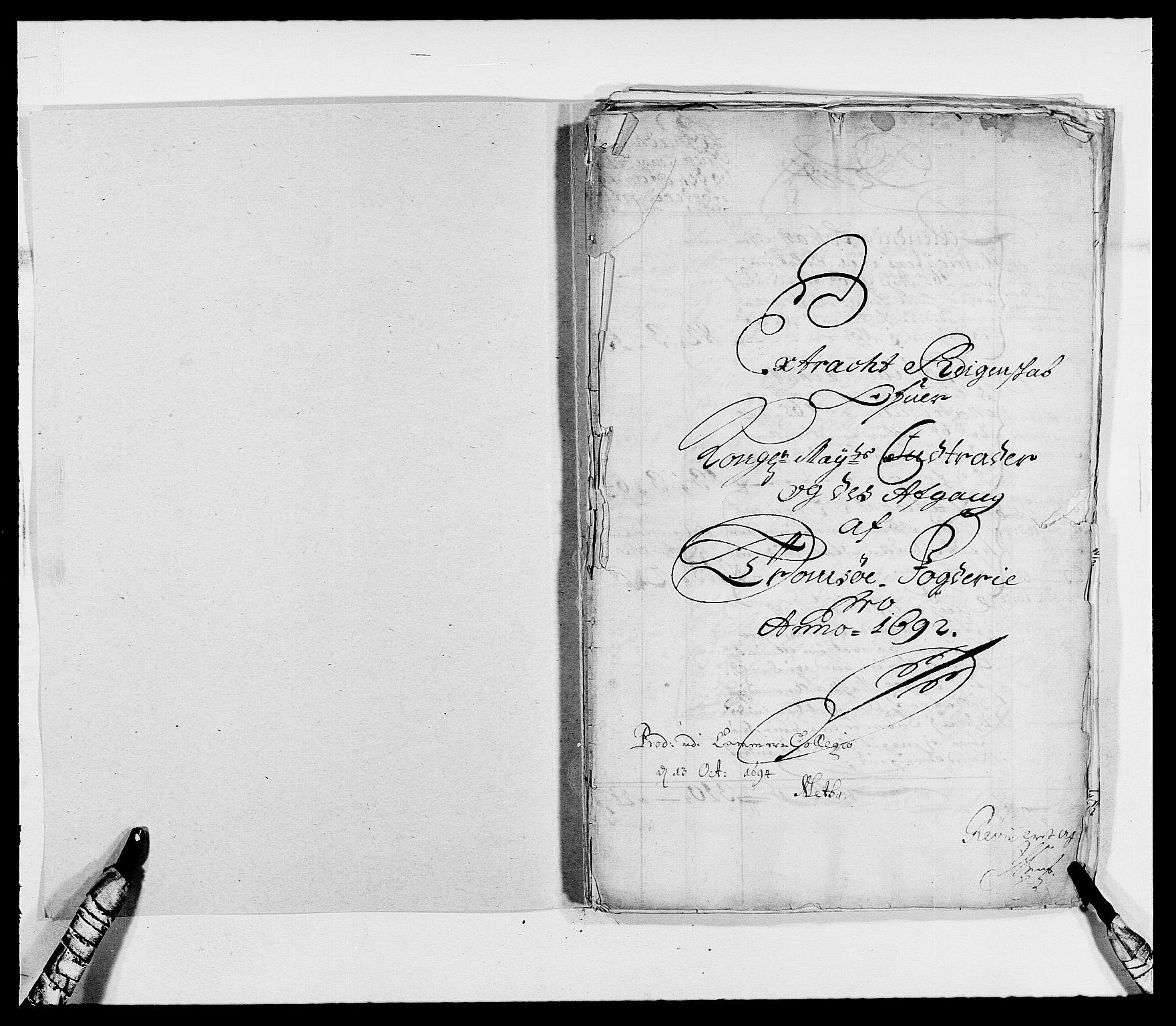 RA, Rentekammeret inntil 1814, Reviderte regnskaper, Fogderegnskap, R68/L4751: Fogderegnskap Senja og Troms, 1690-1693, s. 141