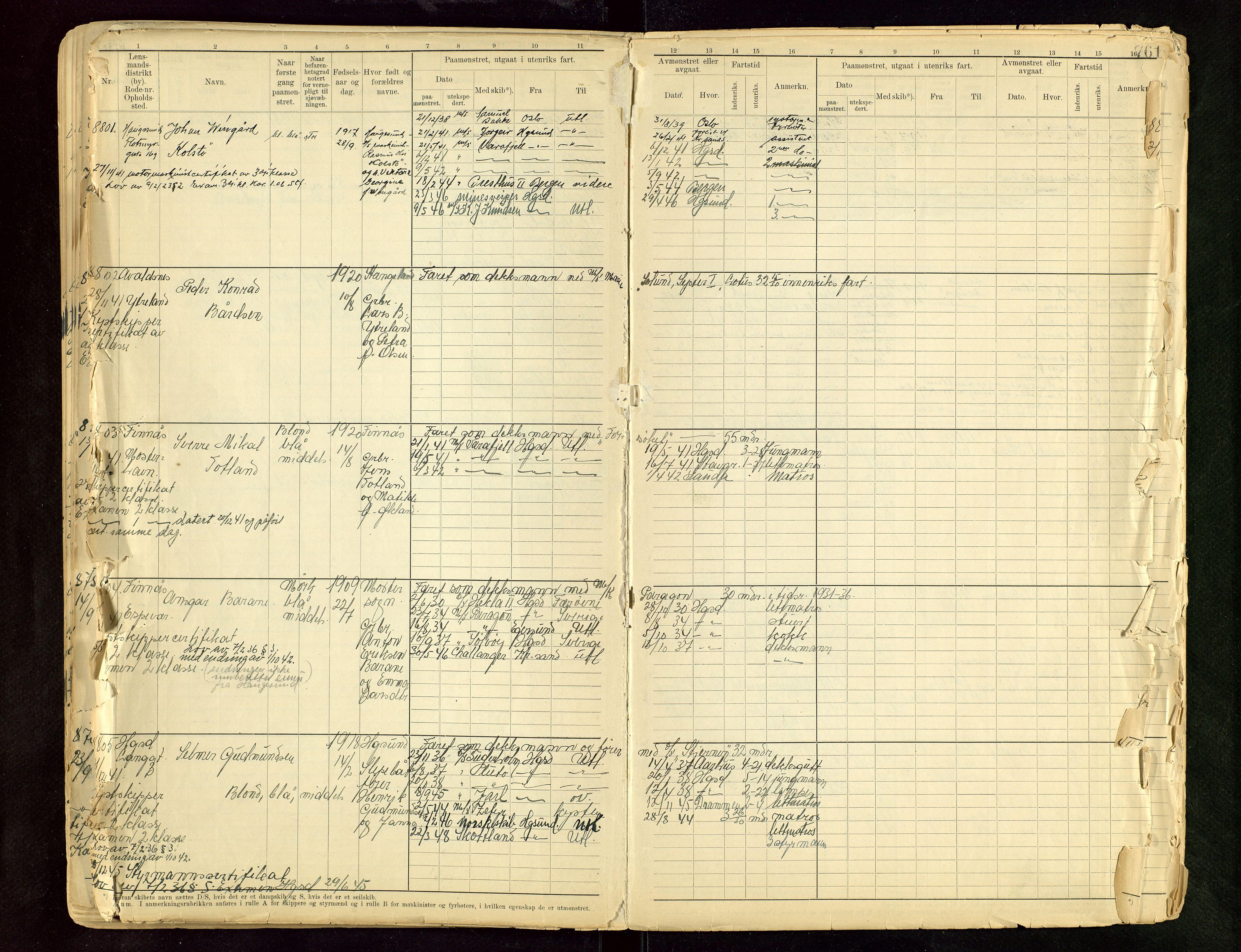 SAST, Haugesund sjømannskontor, F/Fb/Fbb/L0015: Sjøfartsrulle A Haugesund krets I nr 5001-8970, 1912-1948, s. 761