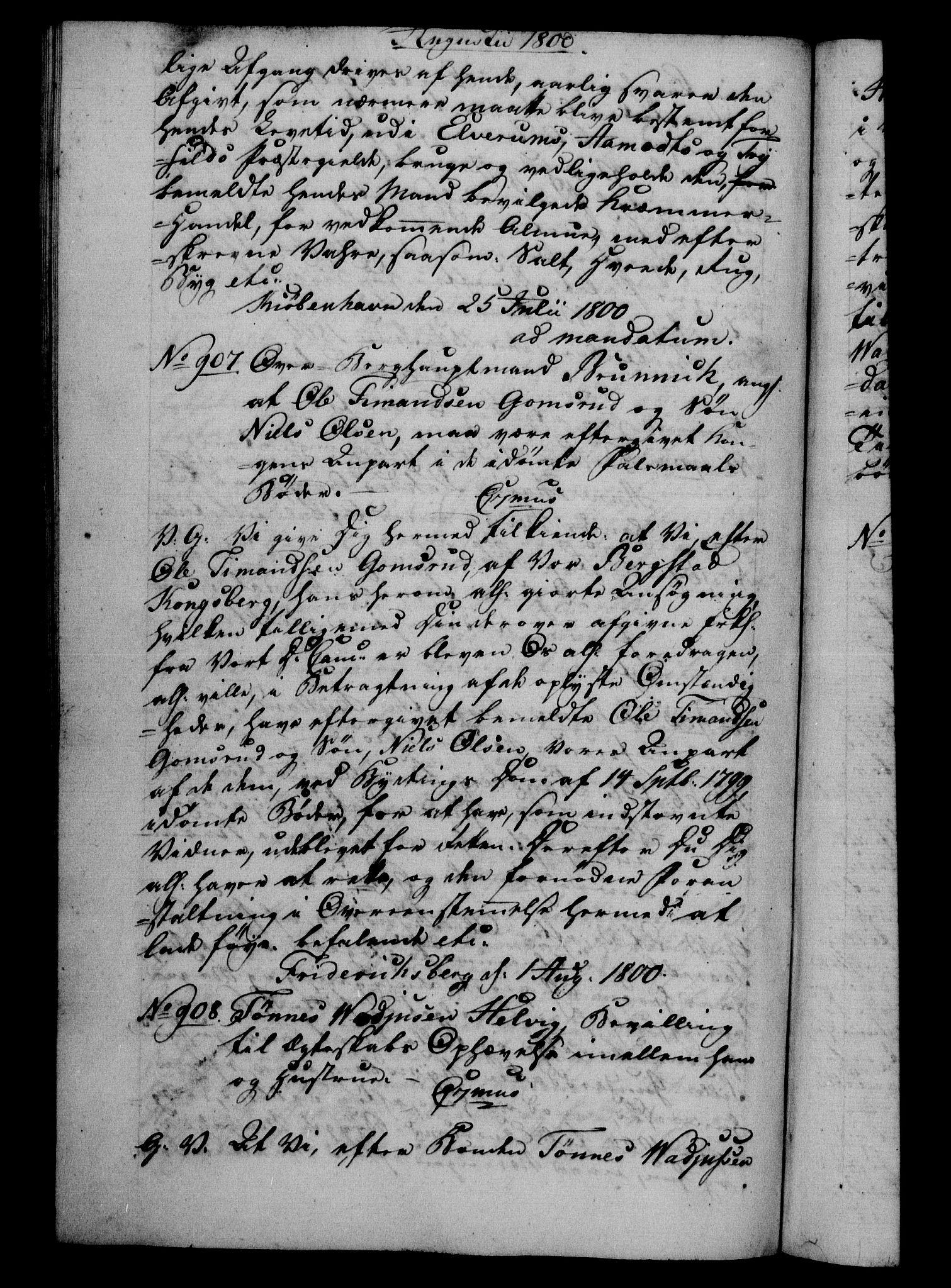 RA, Danske Kanselli 1800-1814, H/Hf/Hfb/Hfba/L0001: Registranter, 1800-1801, s. 290b