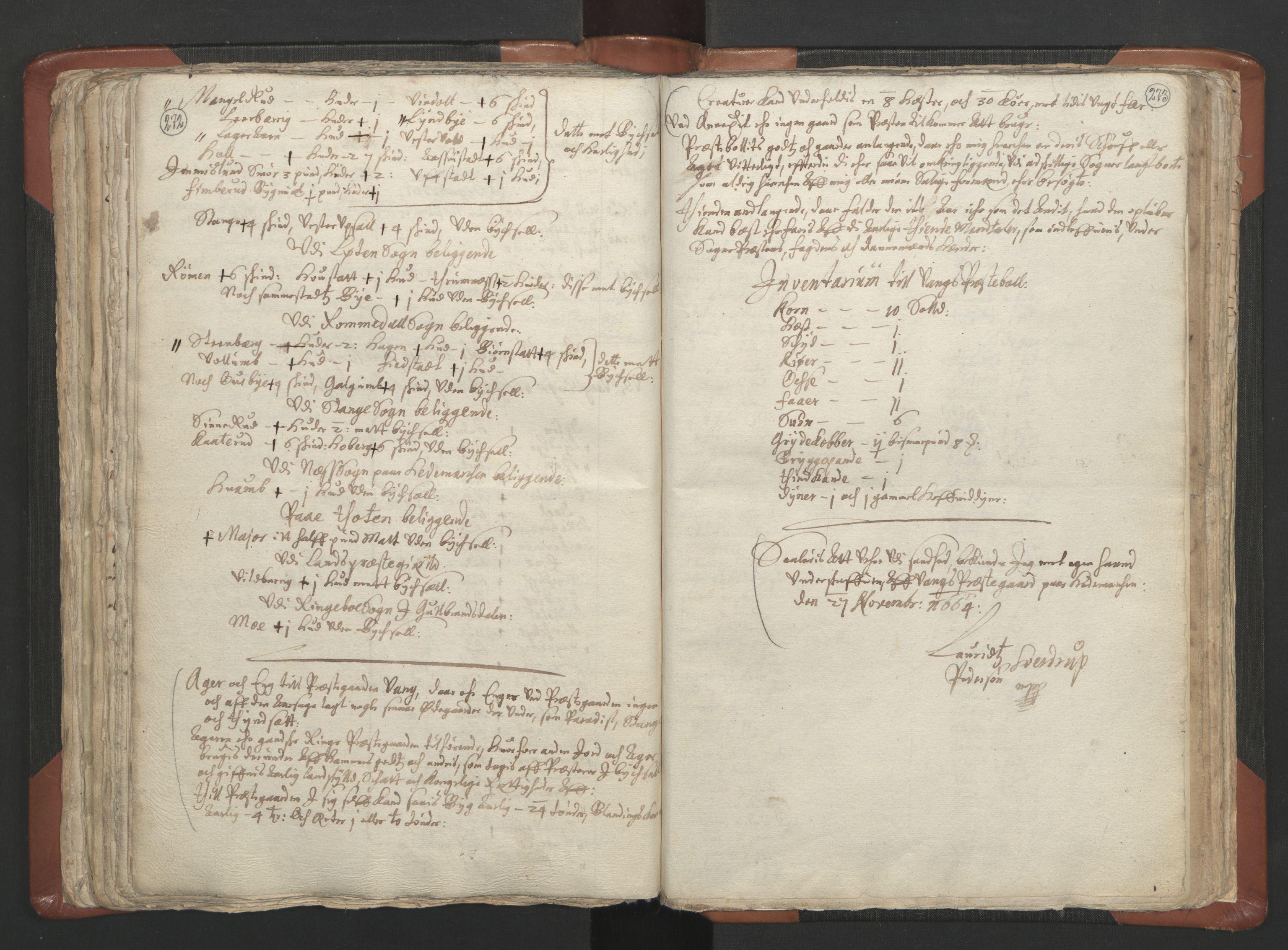 RA, Sogneprestenes manntall 1664-1666, nr. 5: Hedmark prosti, 1664-1666, s. 272-273