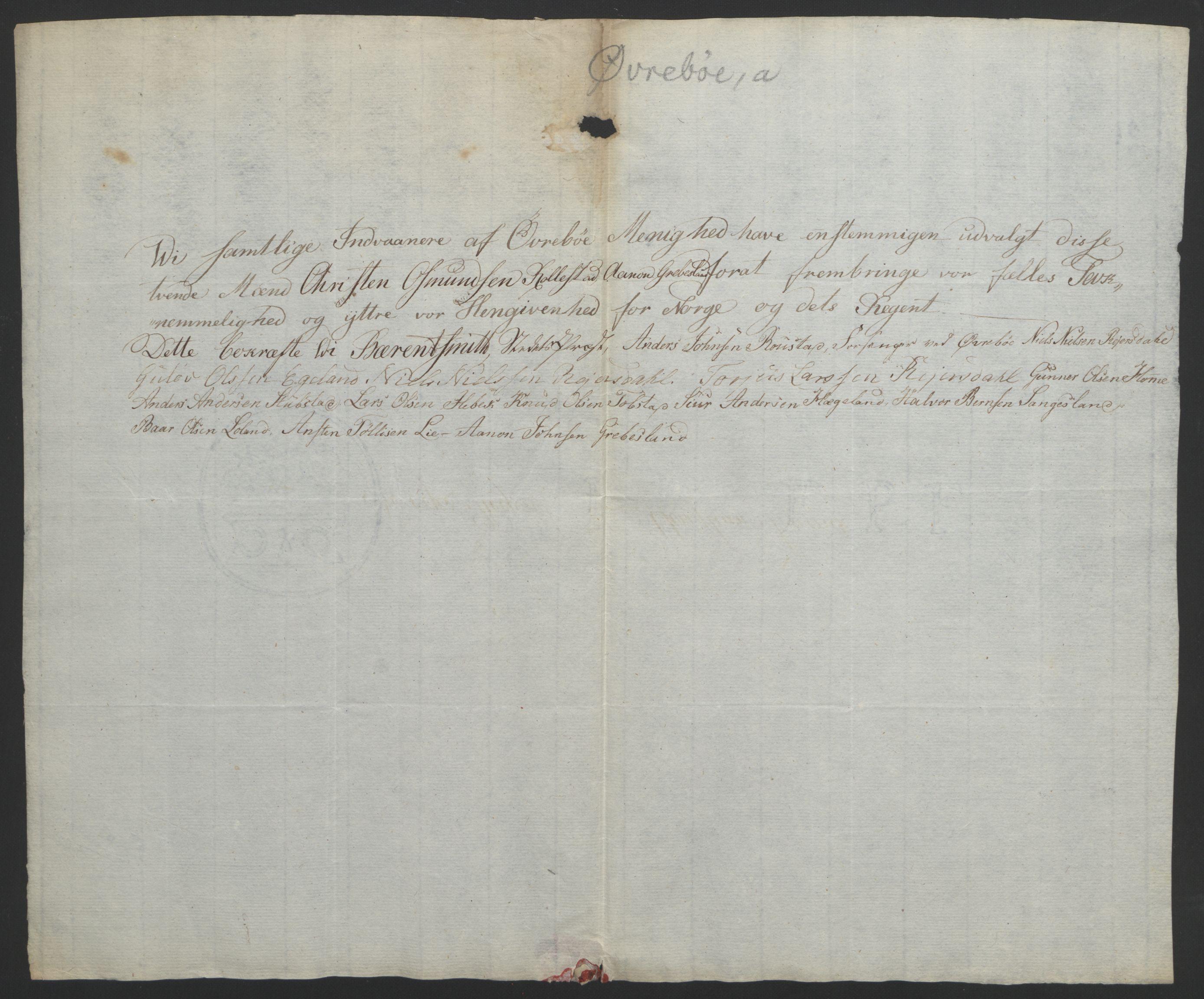 RA, Statsrådssekretariatet, D/Db/L0008: Fullmakter for Eidsvollsrepresentantene i 1814. , 1814, s. 143