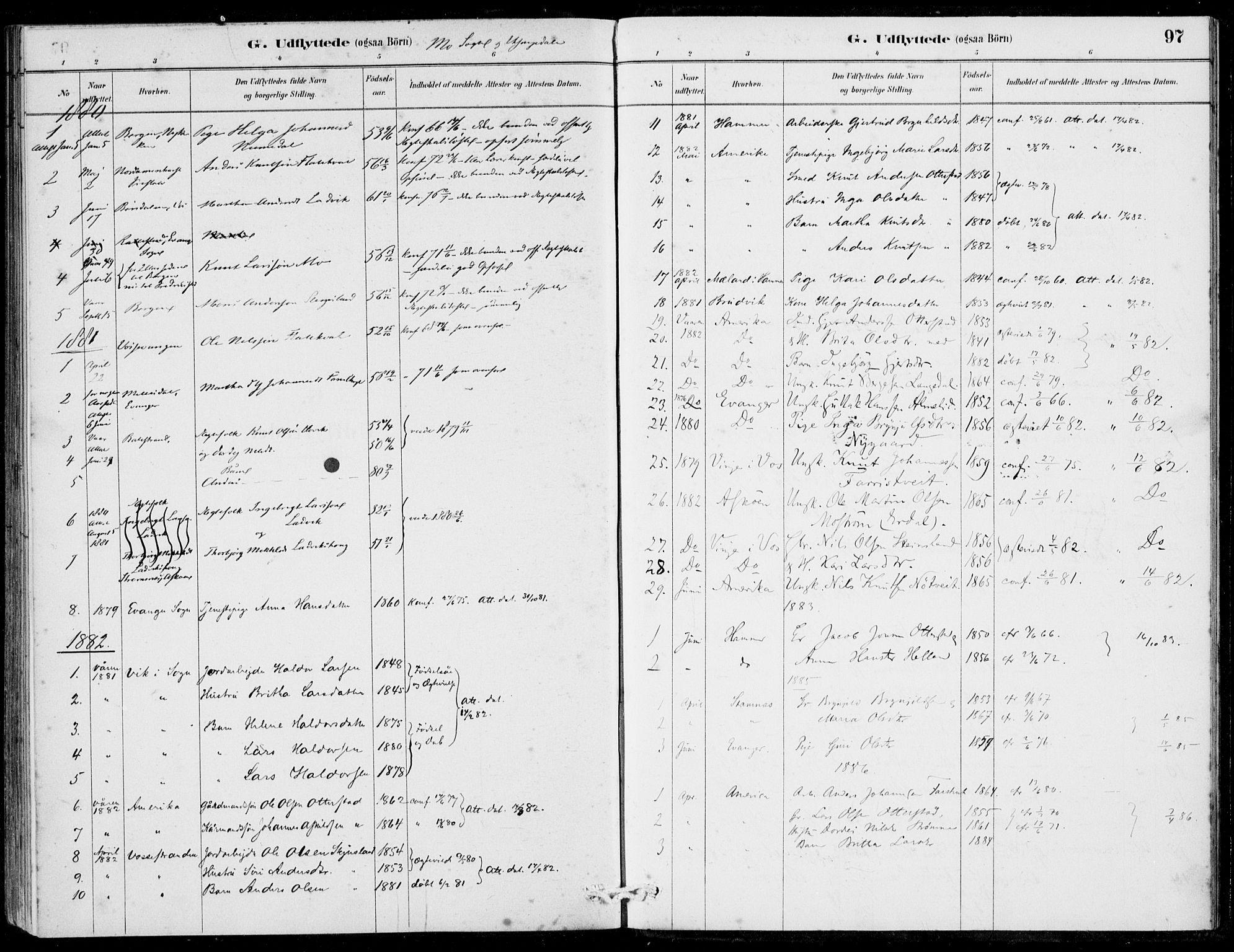 SAB, Hosanger Sokneprestembete, H/Haa: Ministerialbok nr. C  1, 1880-1900, s. 97