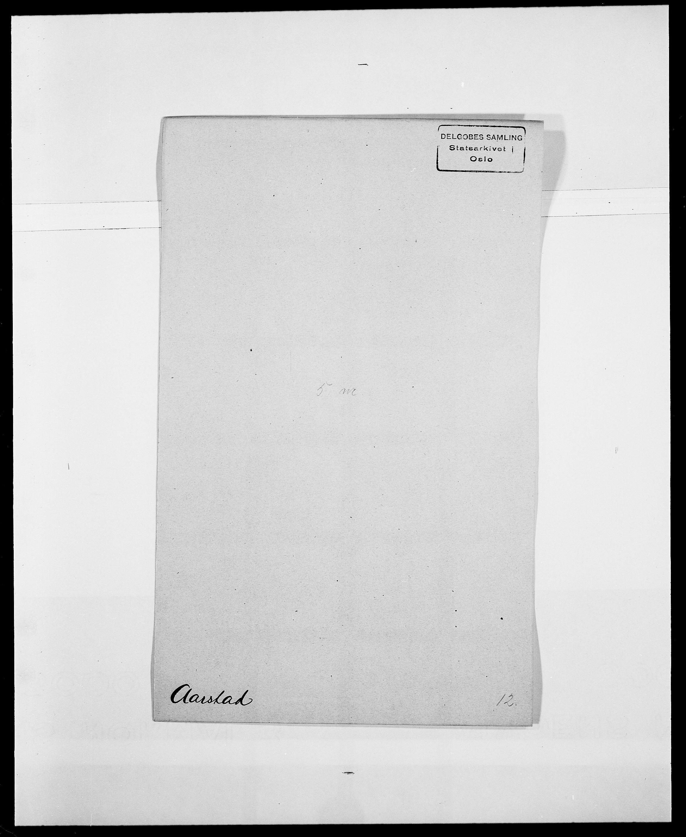 SAO, Delgobe, Charles Antoine - samling, D/Da/L0001: Aabye - Angerman, s. 111